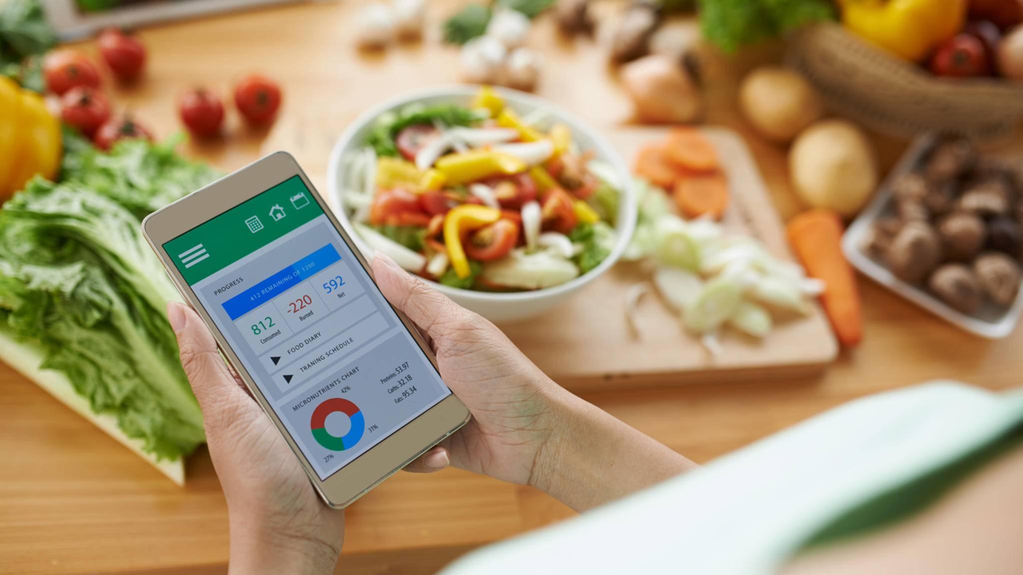 Viele Smartphone-Apps unterstützen Dich beim Abnehmen.