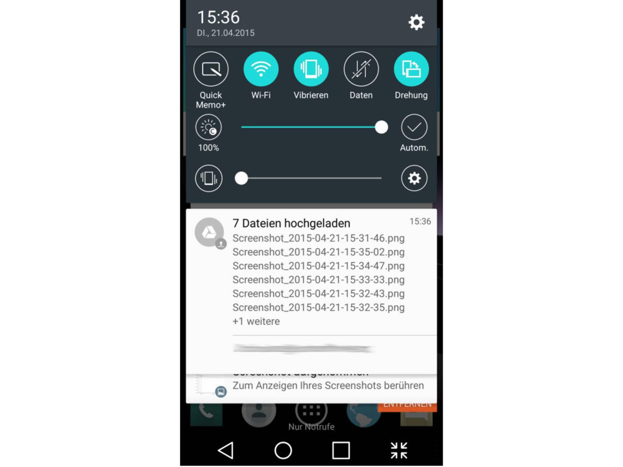 In der Benachrichtigungsleistevon Android kann schon lange interagiert werden.