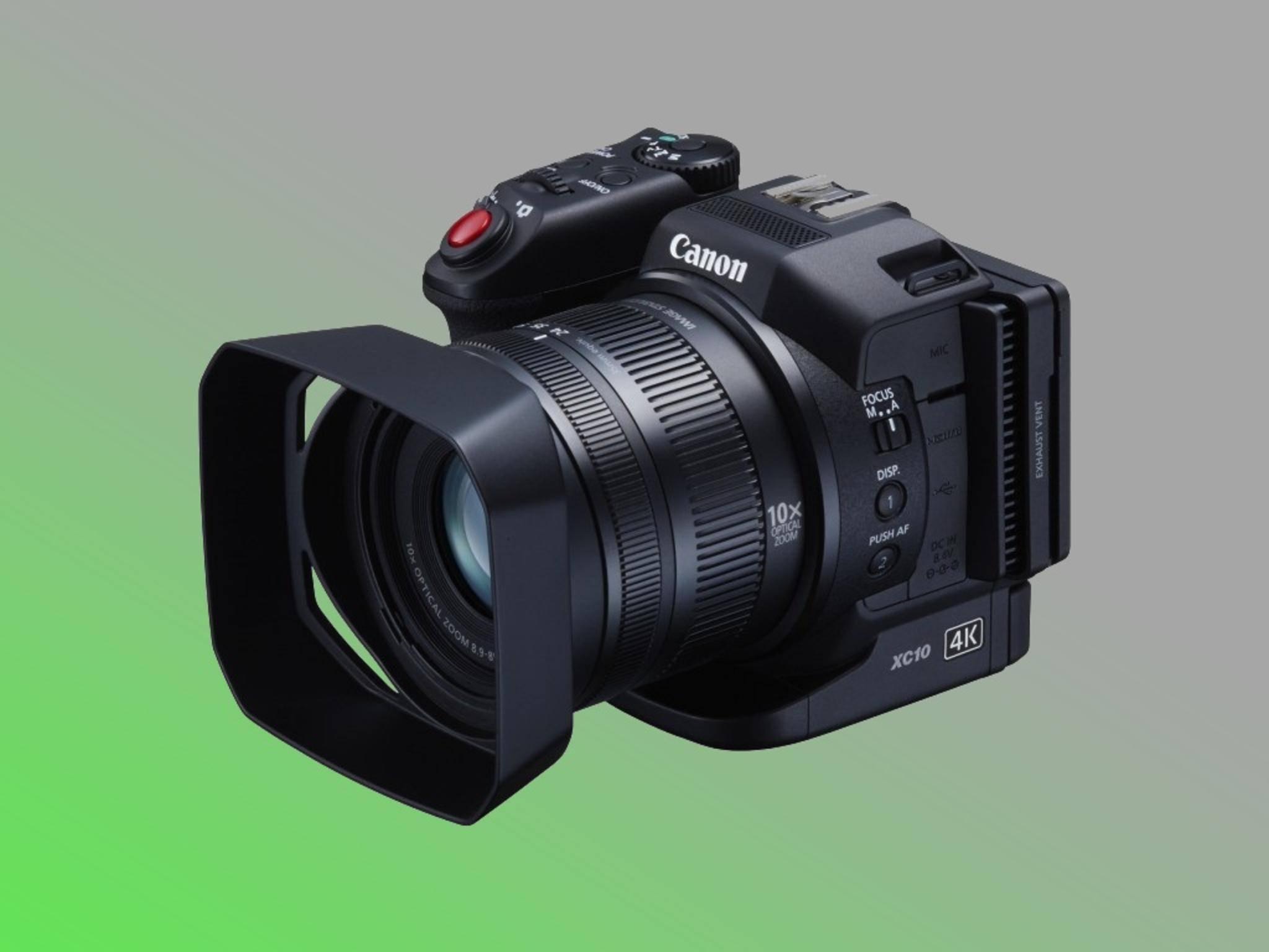 Für einen Camcorder extrem leicht und kompakt: der Canon XC10.