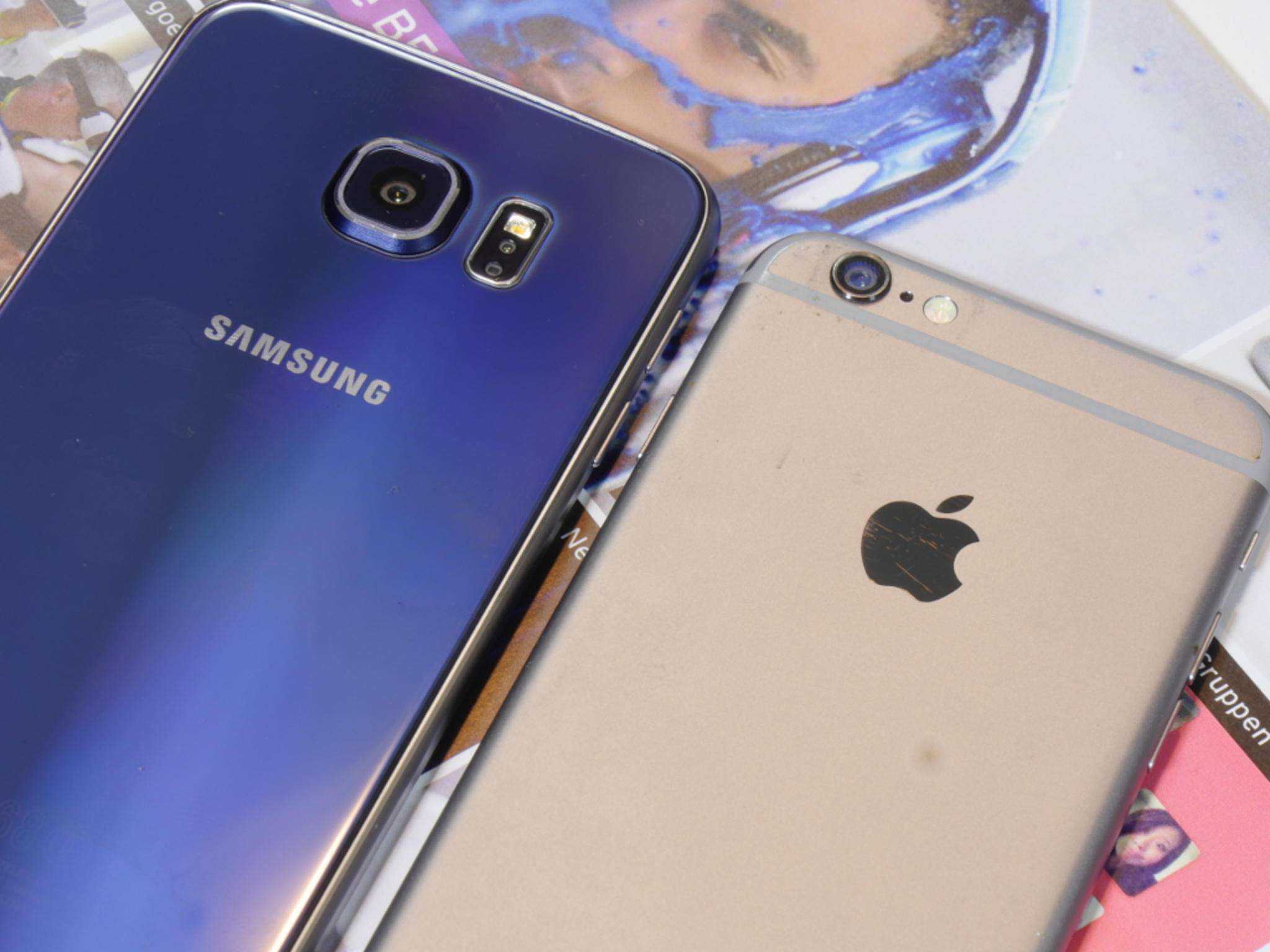 Der Blitz wurde bei der Rückkamera des Galaxy S6 ausgelagert.