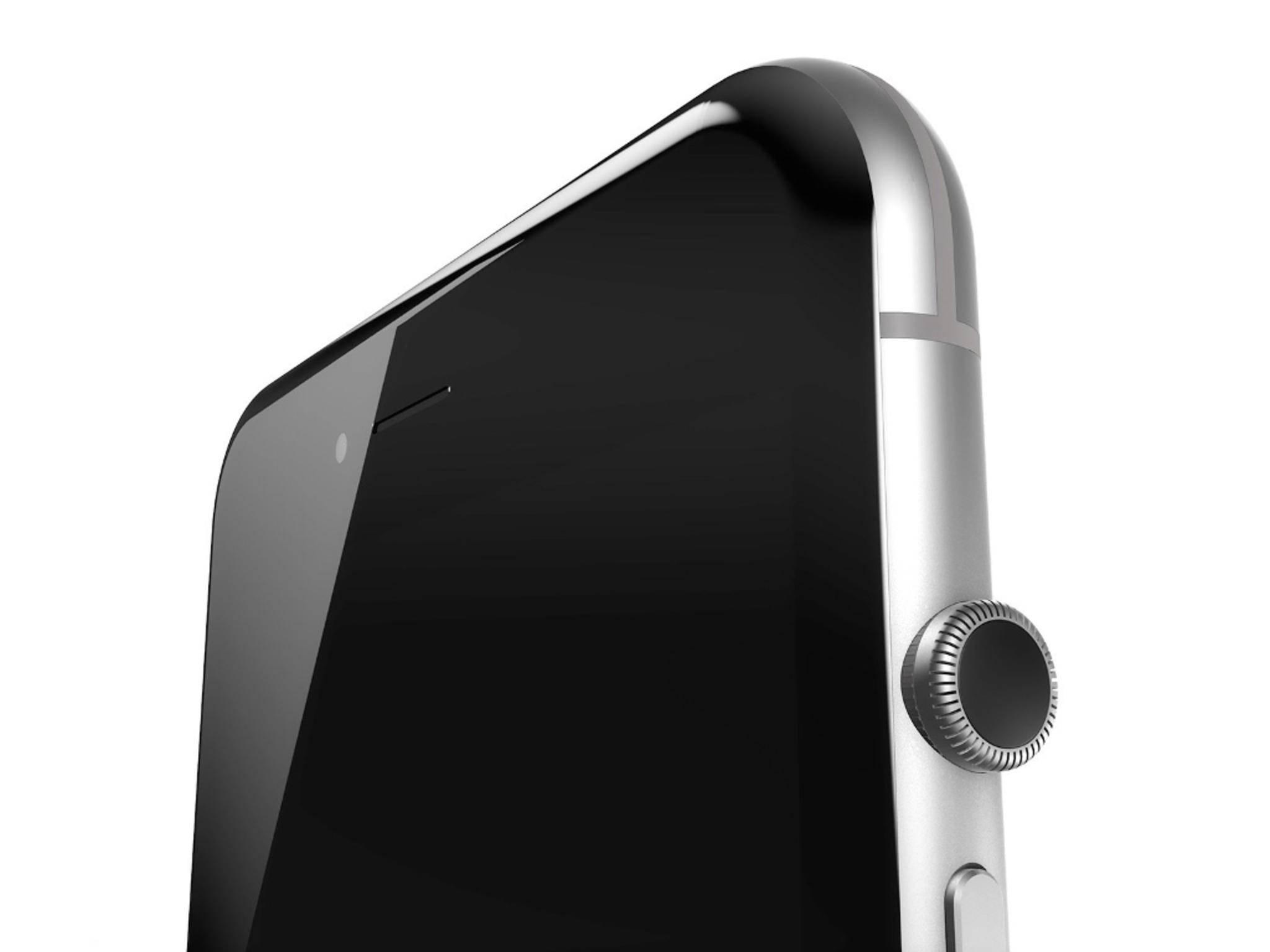 iPhone 7-Konzept mit Krone der Apple Watch.