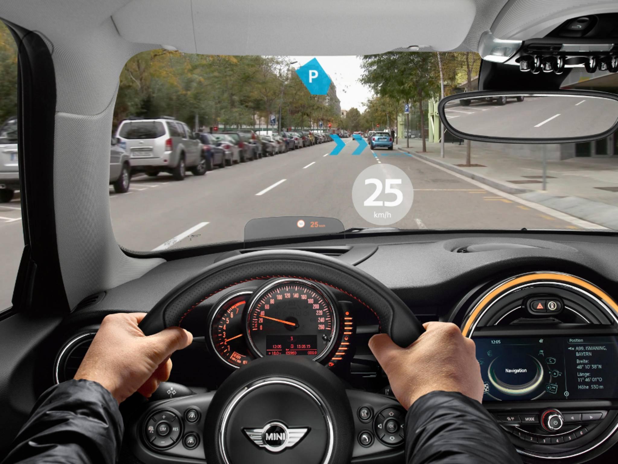 Dank Datenbrille sollen Mini-Fahrer bald mehr sehen als Andere.