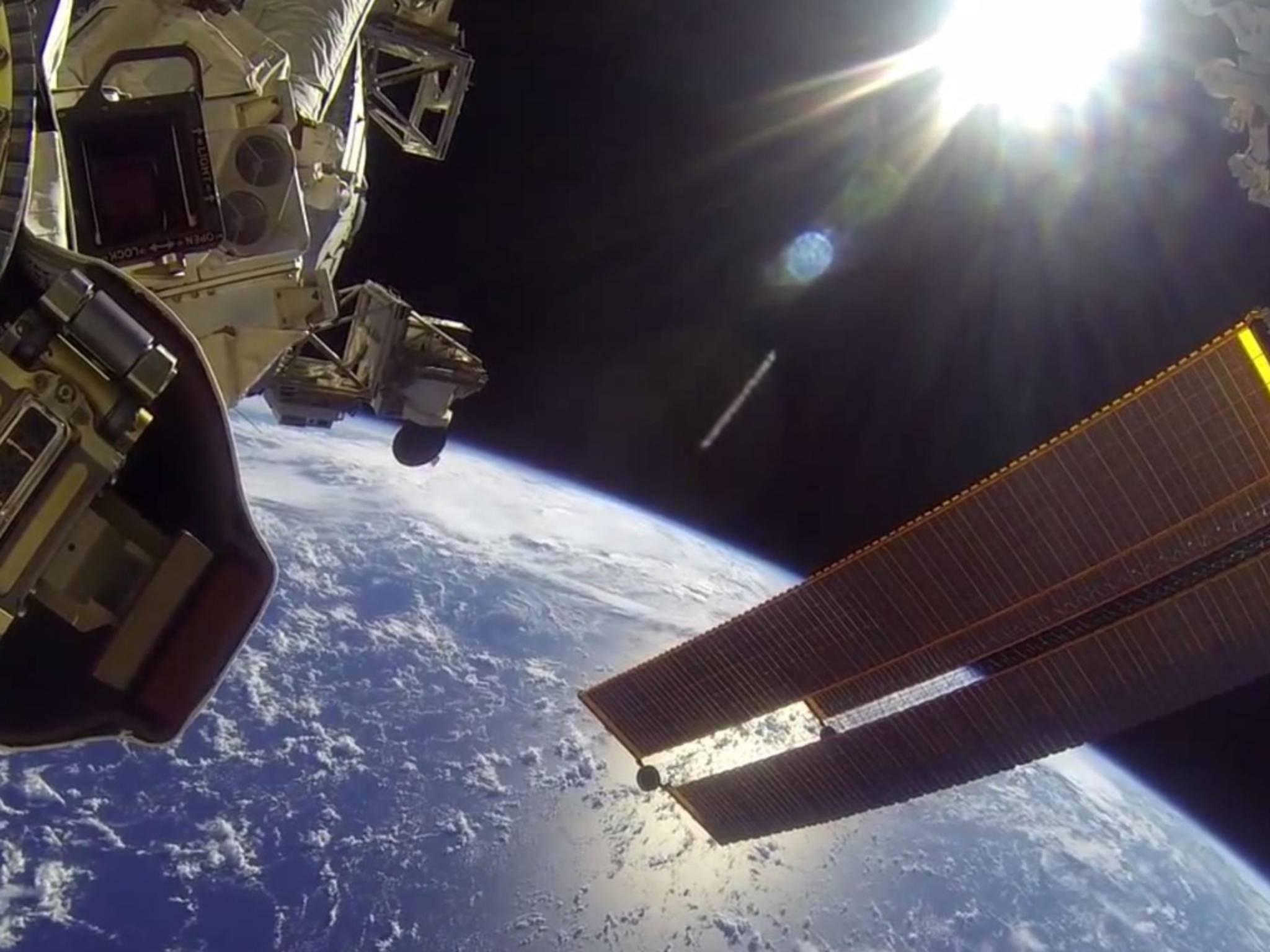Die GoPro-Kameras liefern beeindruckende Aufnahmen aus dem Weltall.
