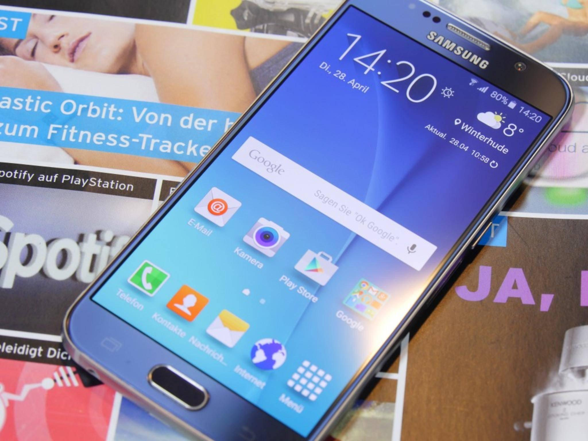 Mit acht Kernen: Das Samsung Galaxy S6.