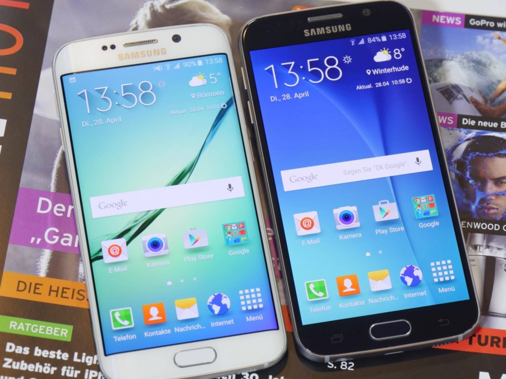 Ausgeliefert werden Samsung Galaxy S6 und Galaxy S6 Edge mit Android 5.0.2.