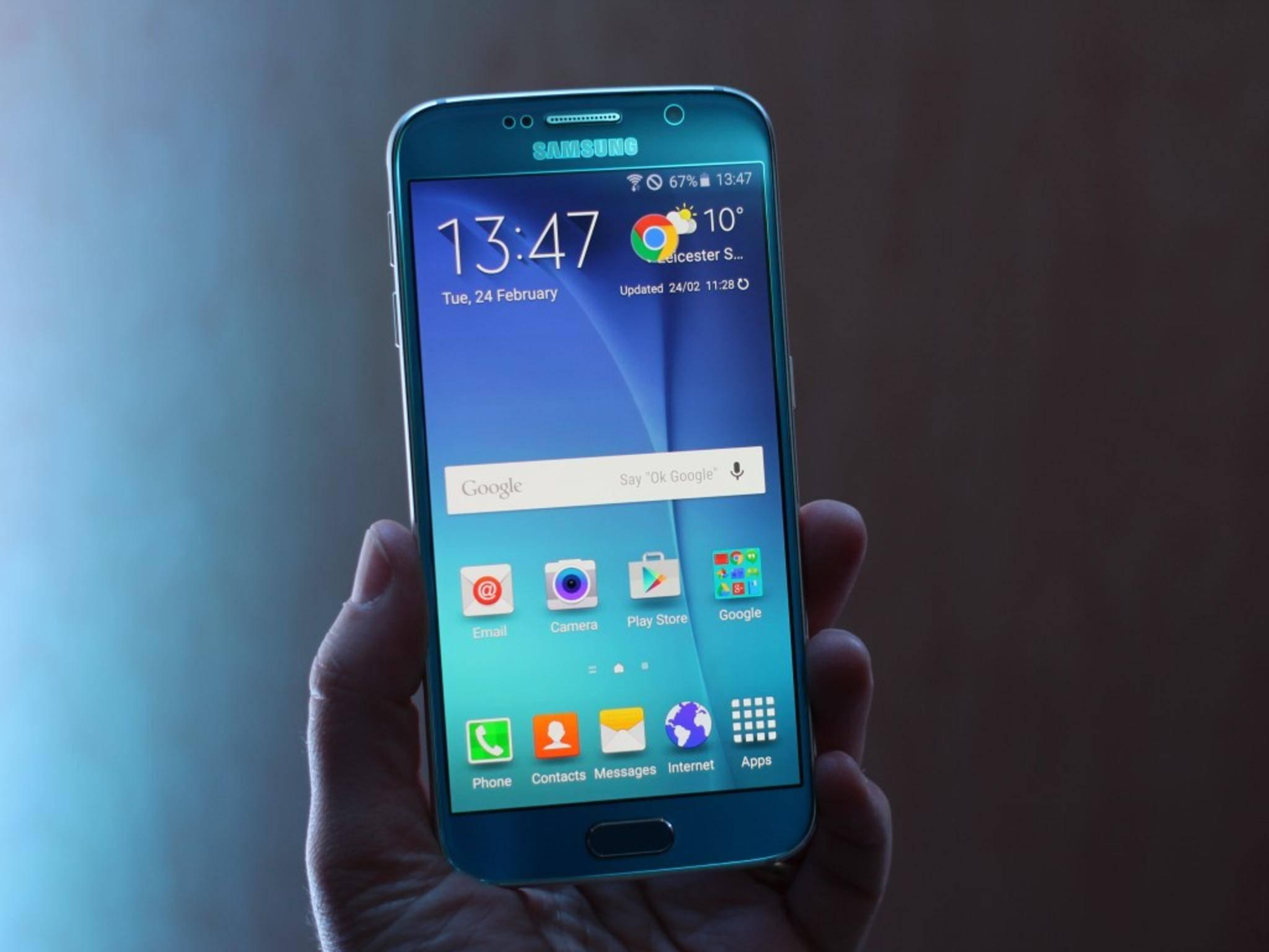 Das Galaxy S6 wird bereits mit Android 6.0.1 getestet.