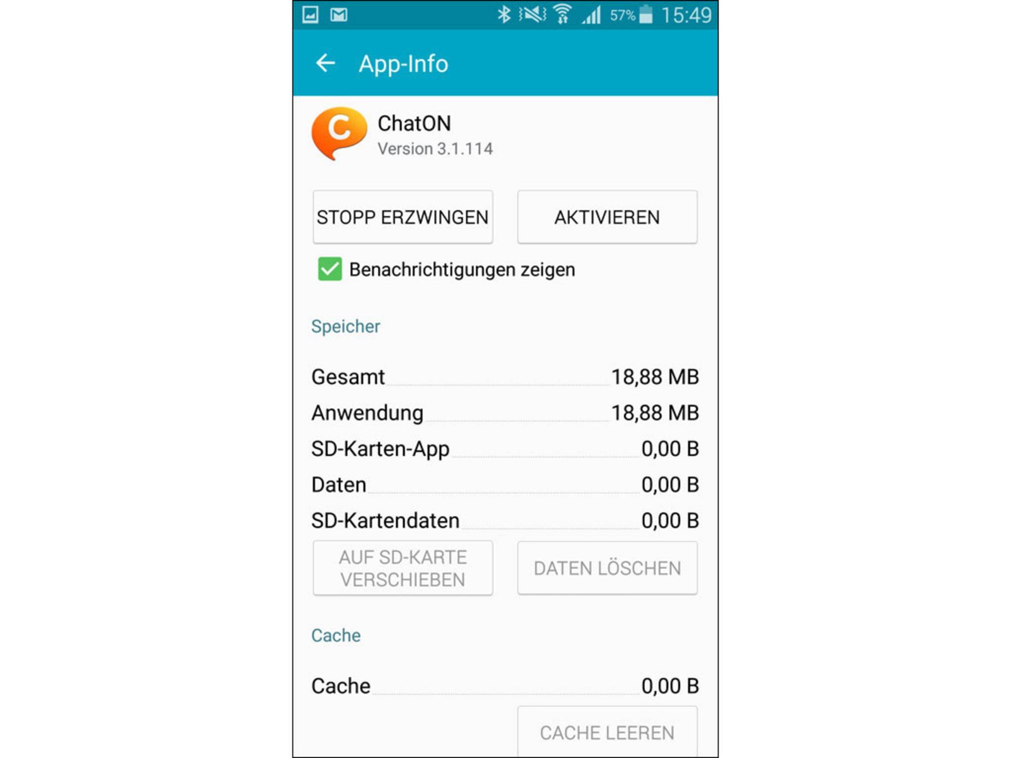 Danach ist die App deaktiviert, wird nicht mehr automatisch aktualisiert und verbraucht kein Datenvolumen.