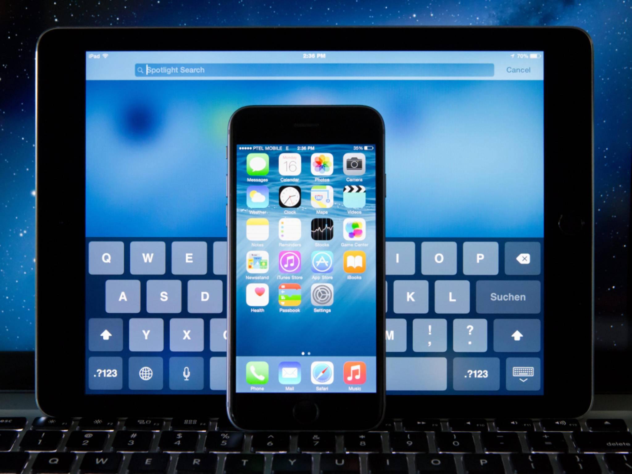 iOS 8.3 für iPhones und iPads ist da.