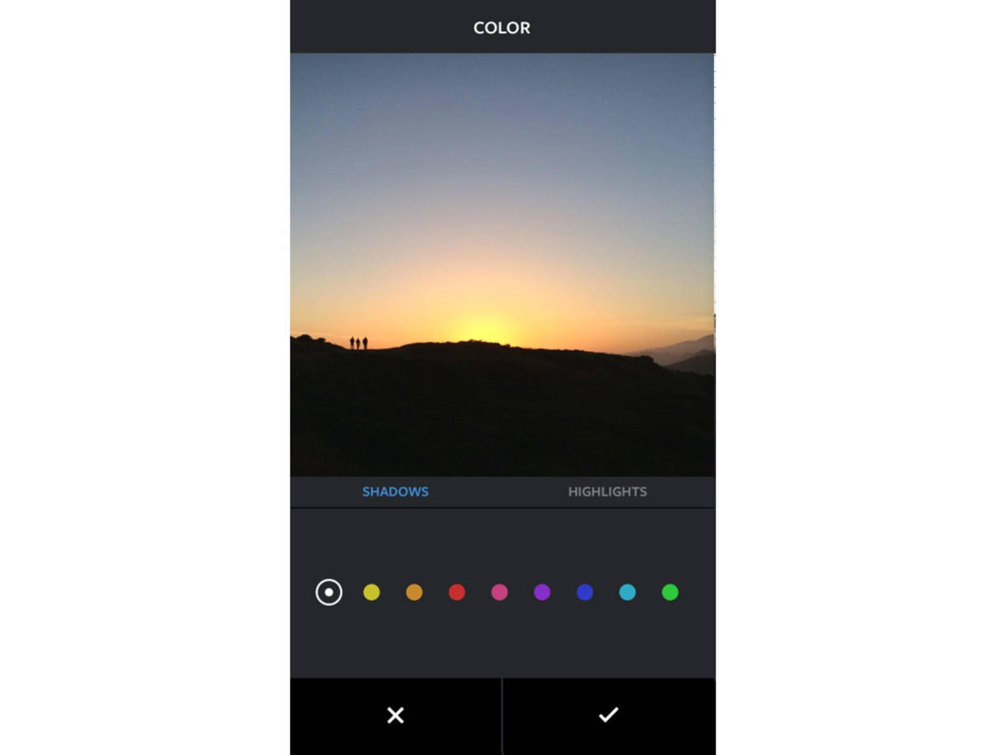 Mit dem Color-Tool sind diverse Einfärbungen möglich ...