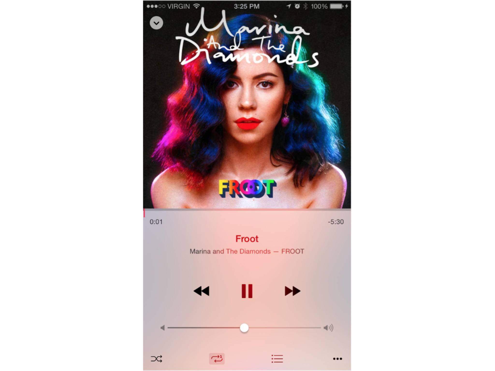 Die Musik-App wird unter iOS 8.4 komplett neu designt.