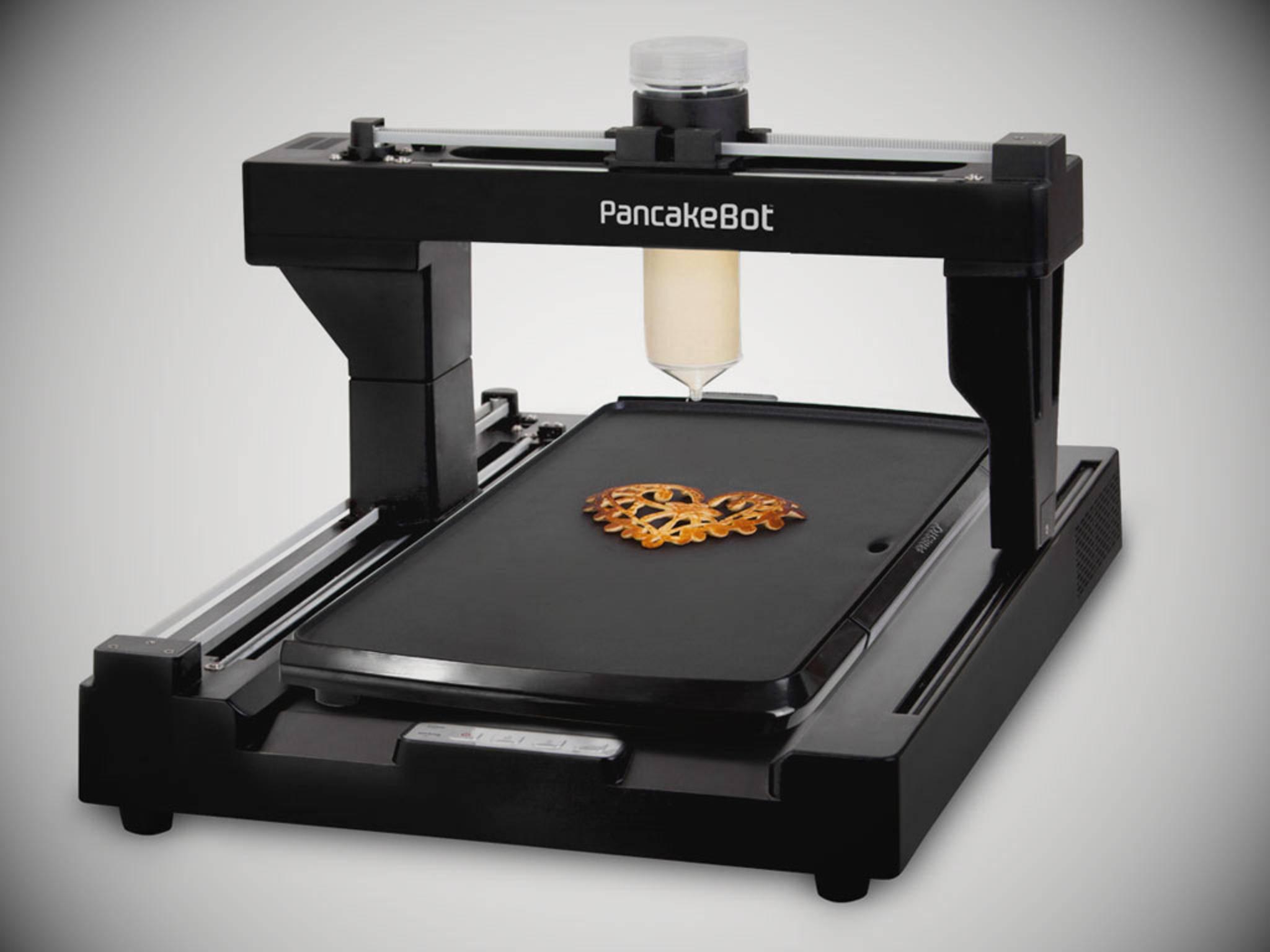 Herzen, Tiere, Gesichter: Der PancakeBot druckt perfekte essbare Kunstwerke.