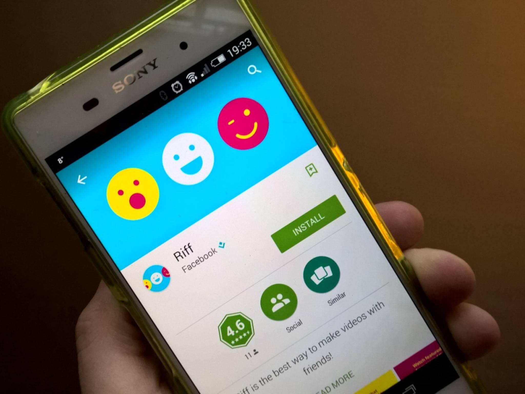 Schnellstarter: Facebook Riff stürmt derzeit die App-Charts.