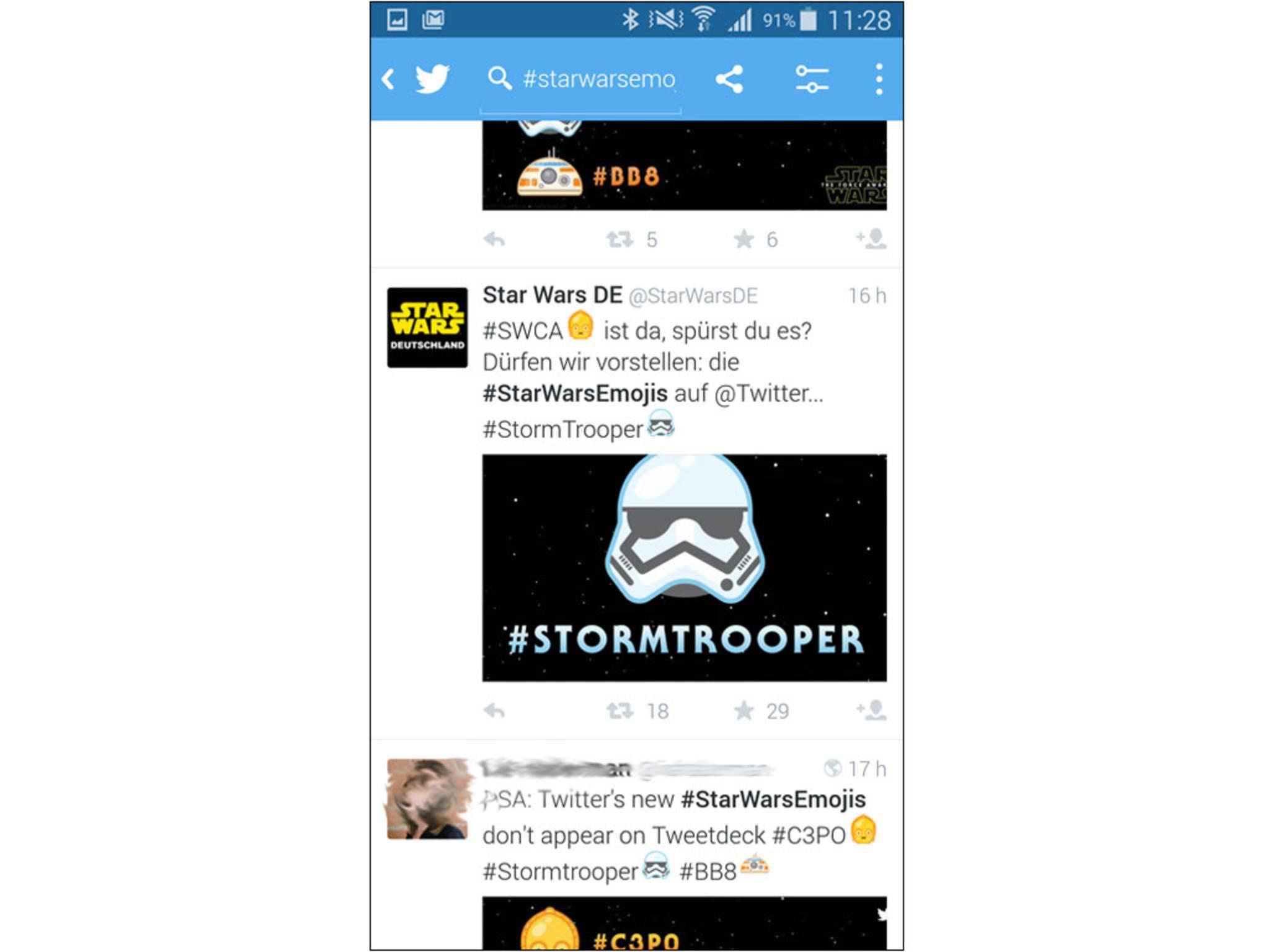 Und auch die Stormtroopers wurden verewigt.