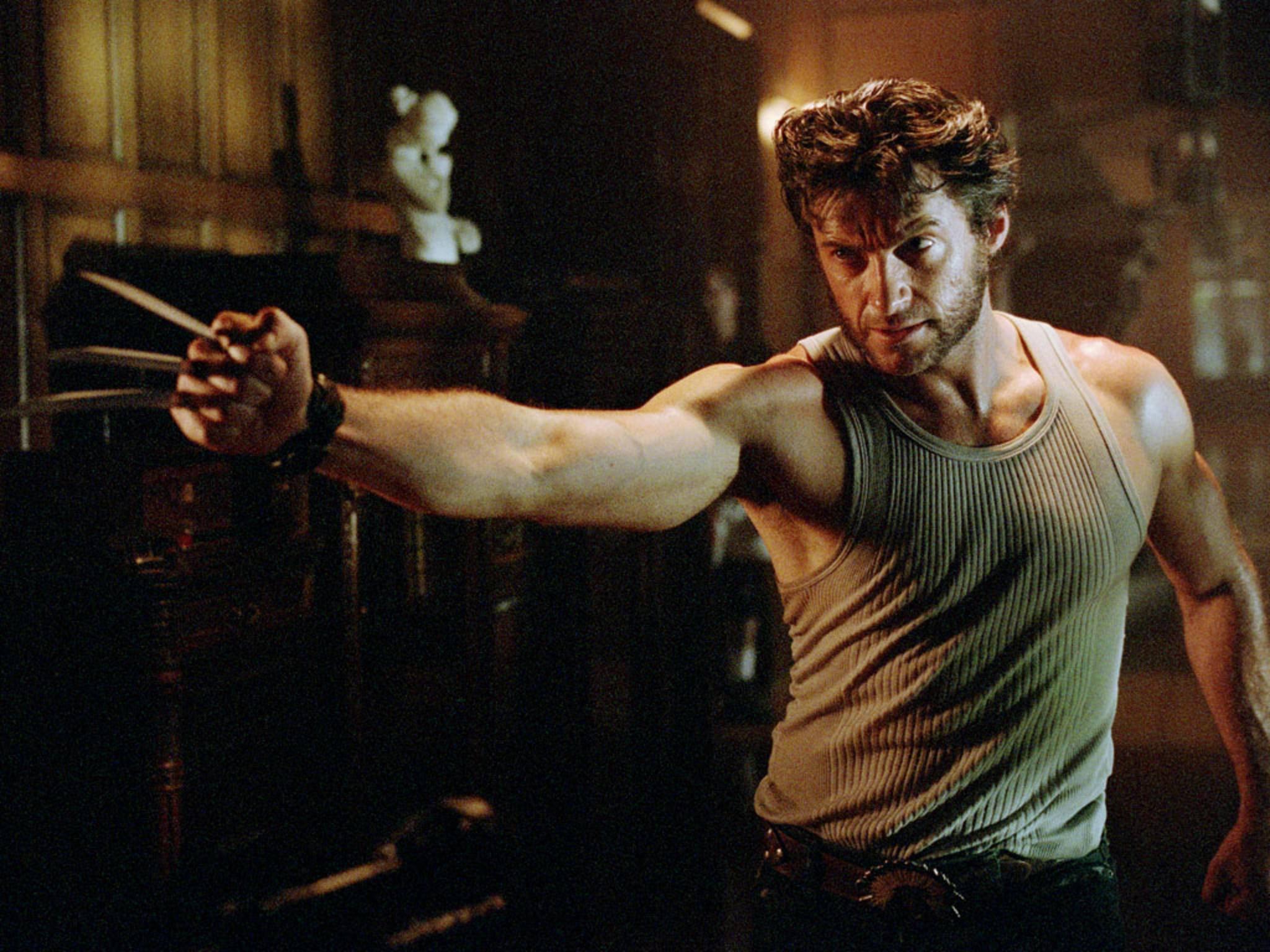 Der X-Man Wolverine hat Krallen in den Fäusten und wird im Film von Hugh Jackman gespielt.