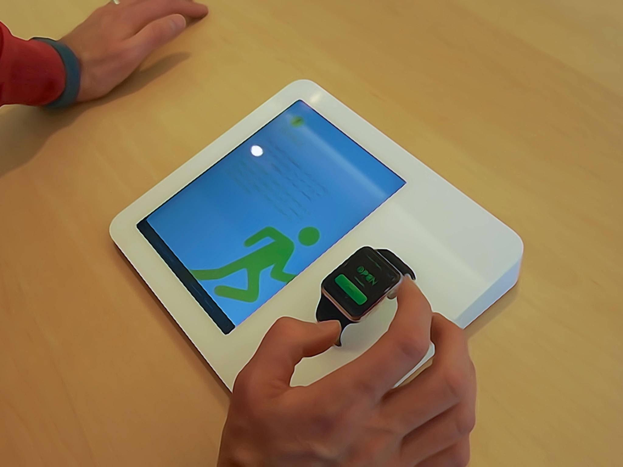 So wird die Apple Watch normalerweise ausgestellt.