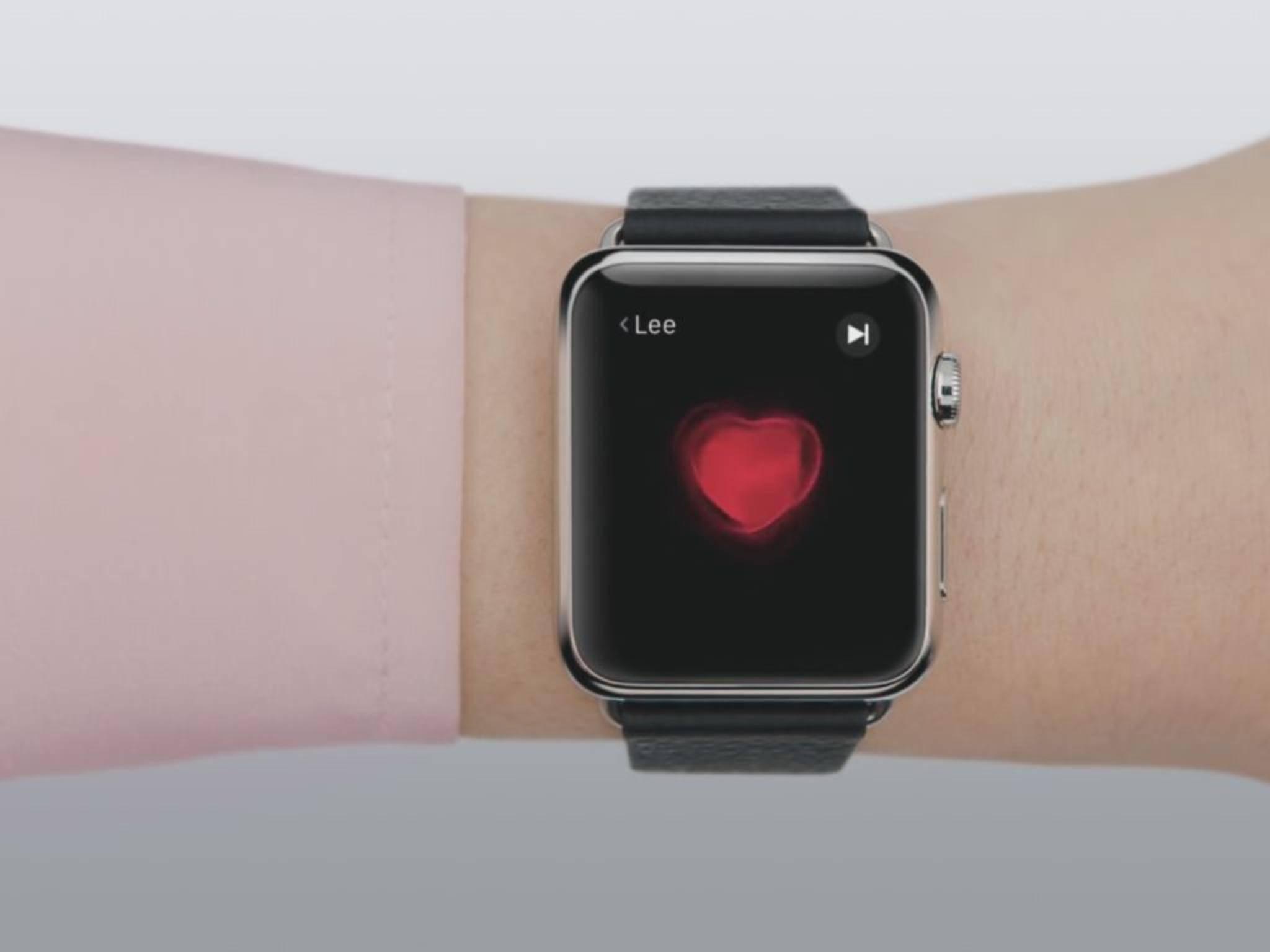 Die Apple Watch zeichnet die Herzfrequenz ihres Trägers überraschend genau auf.