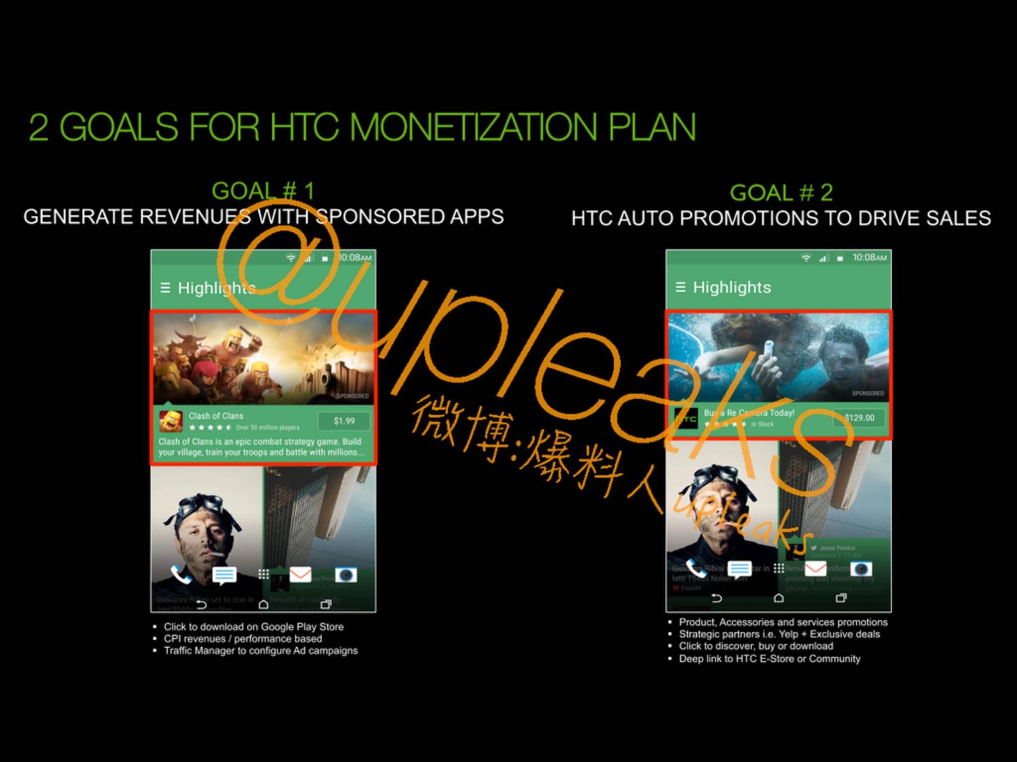 So könnte die Werbestrategie von HTC aussehen.