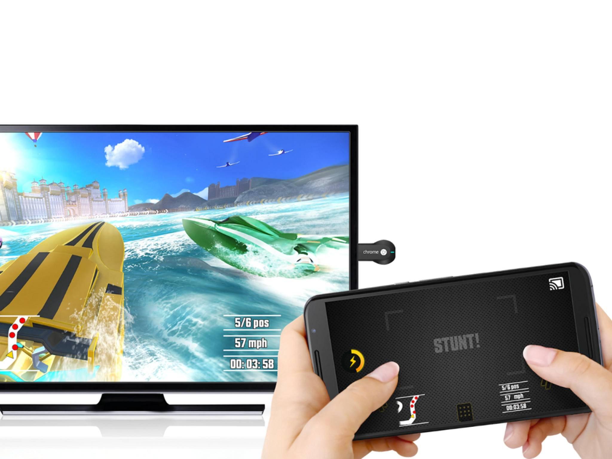 In manchen Chromecast-Spielen wird Dein Smartphone zum Controller.