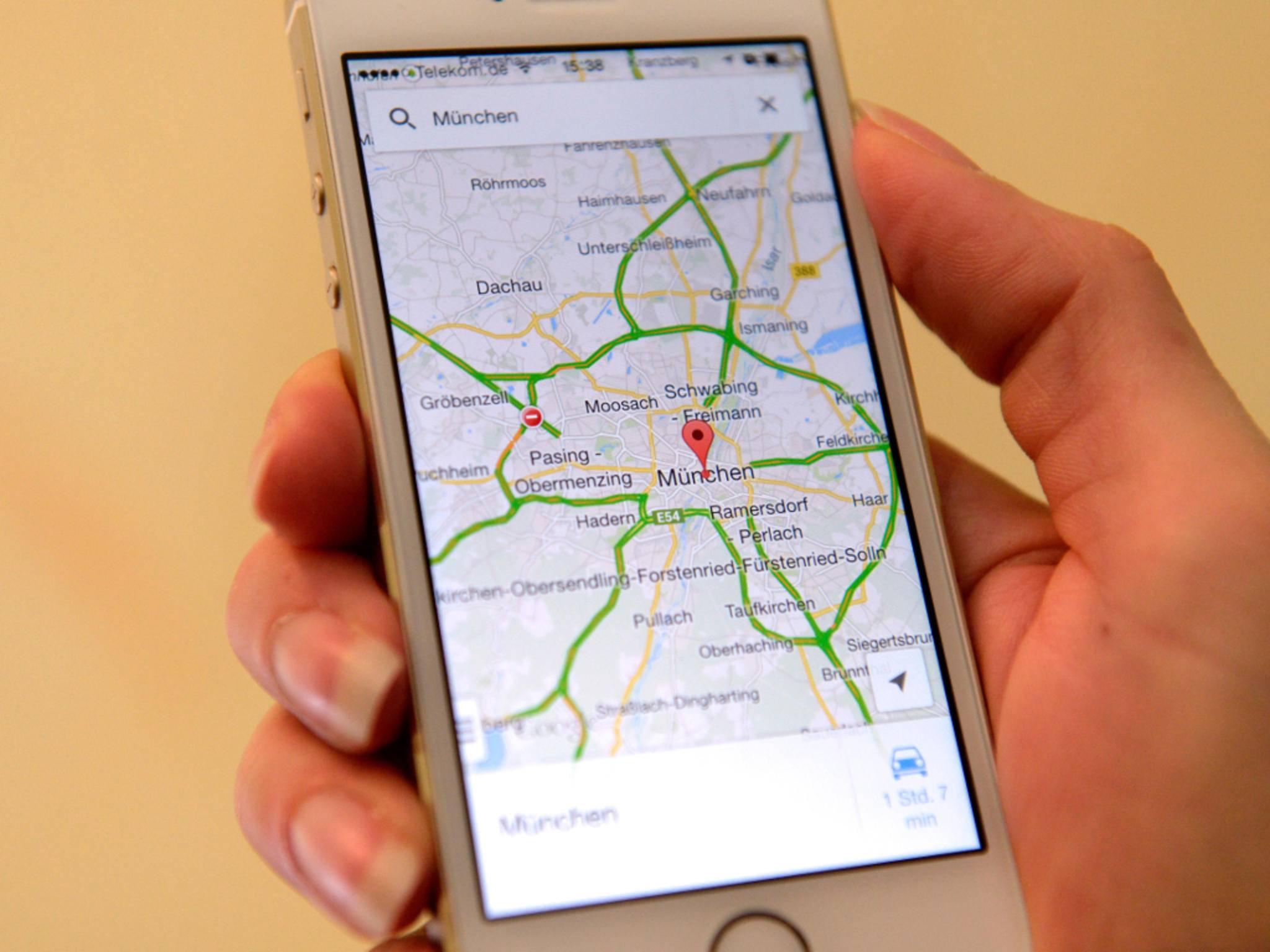 Selbst auf dem iPhone ist Google Maps für viele Nutzer erste Wahl.