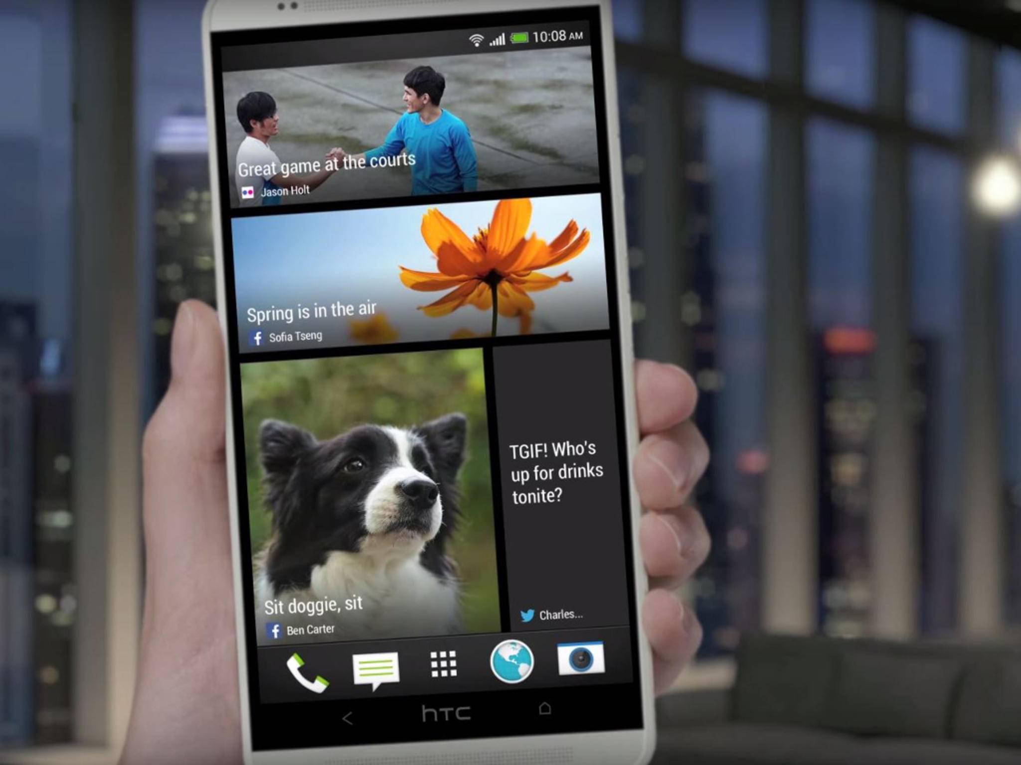 Der Blinkfeed von HTC könnte schon bald Werbung enthalten.
