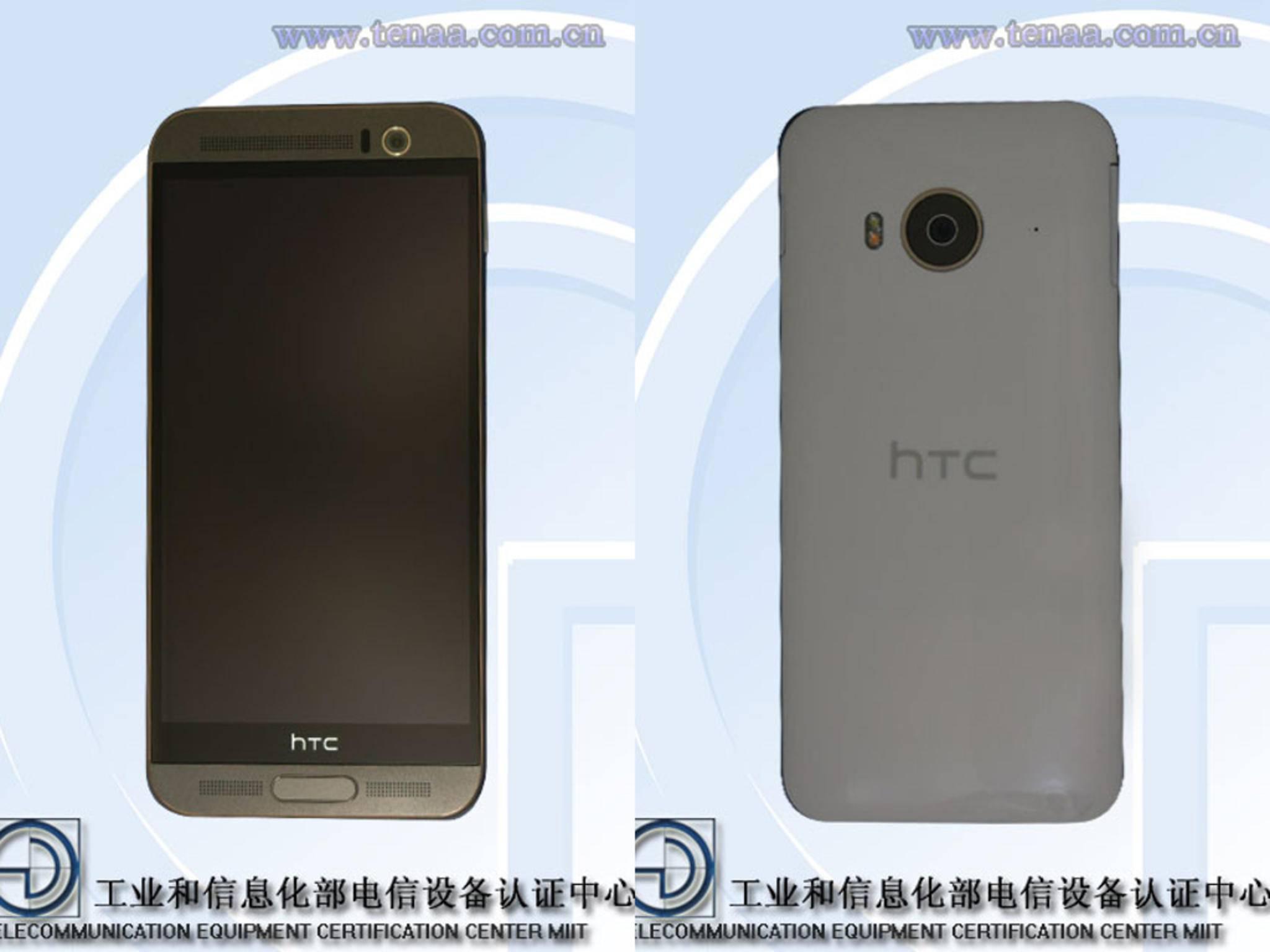 Das HTC One M9e kommt laut ersten Bildern im Plastikgehäuse daher.