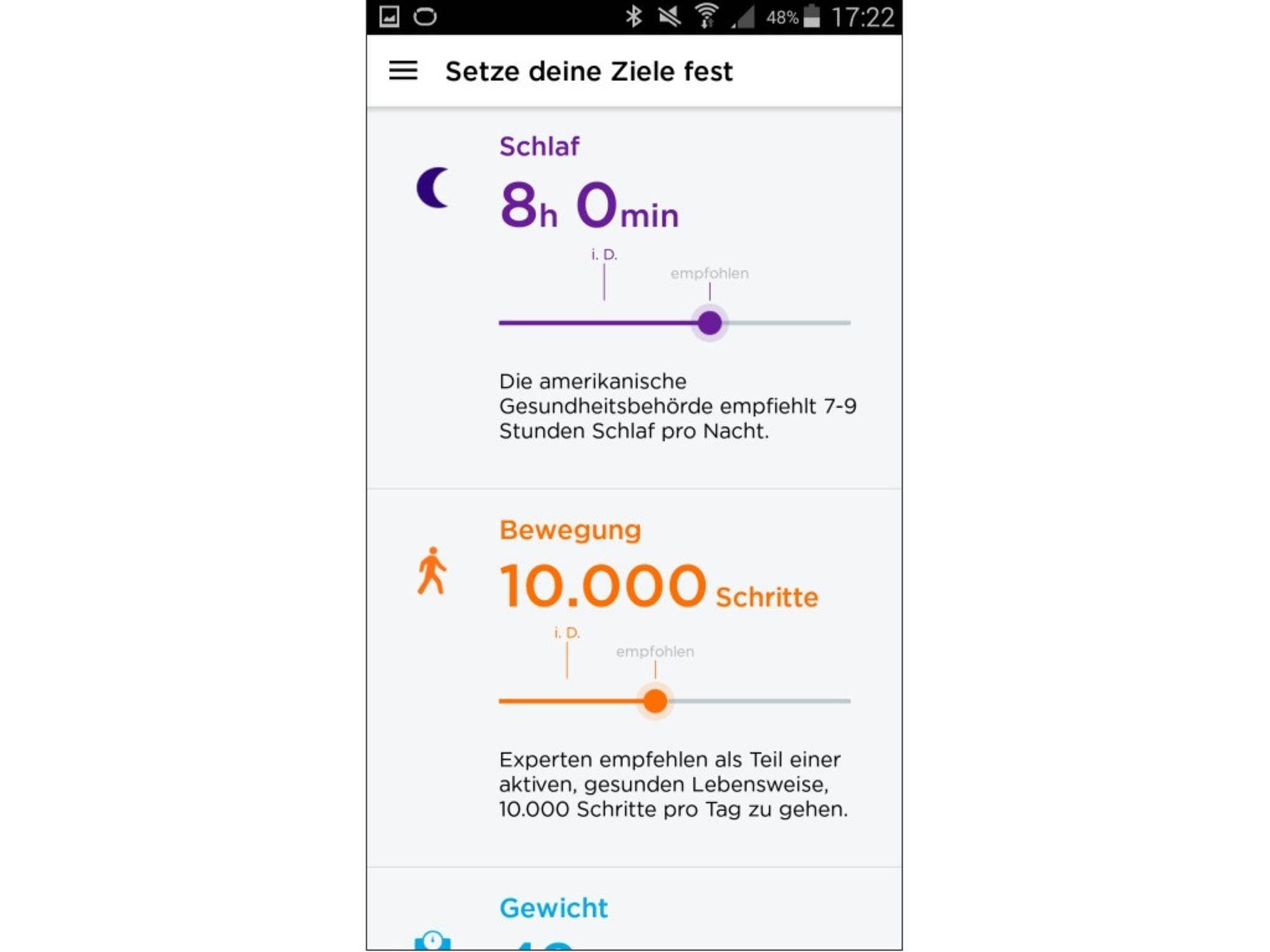 Jawbone Up 2 App Screenshot 19