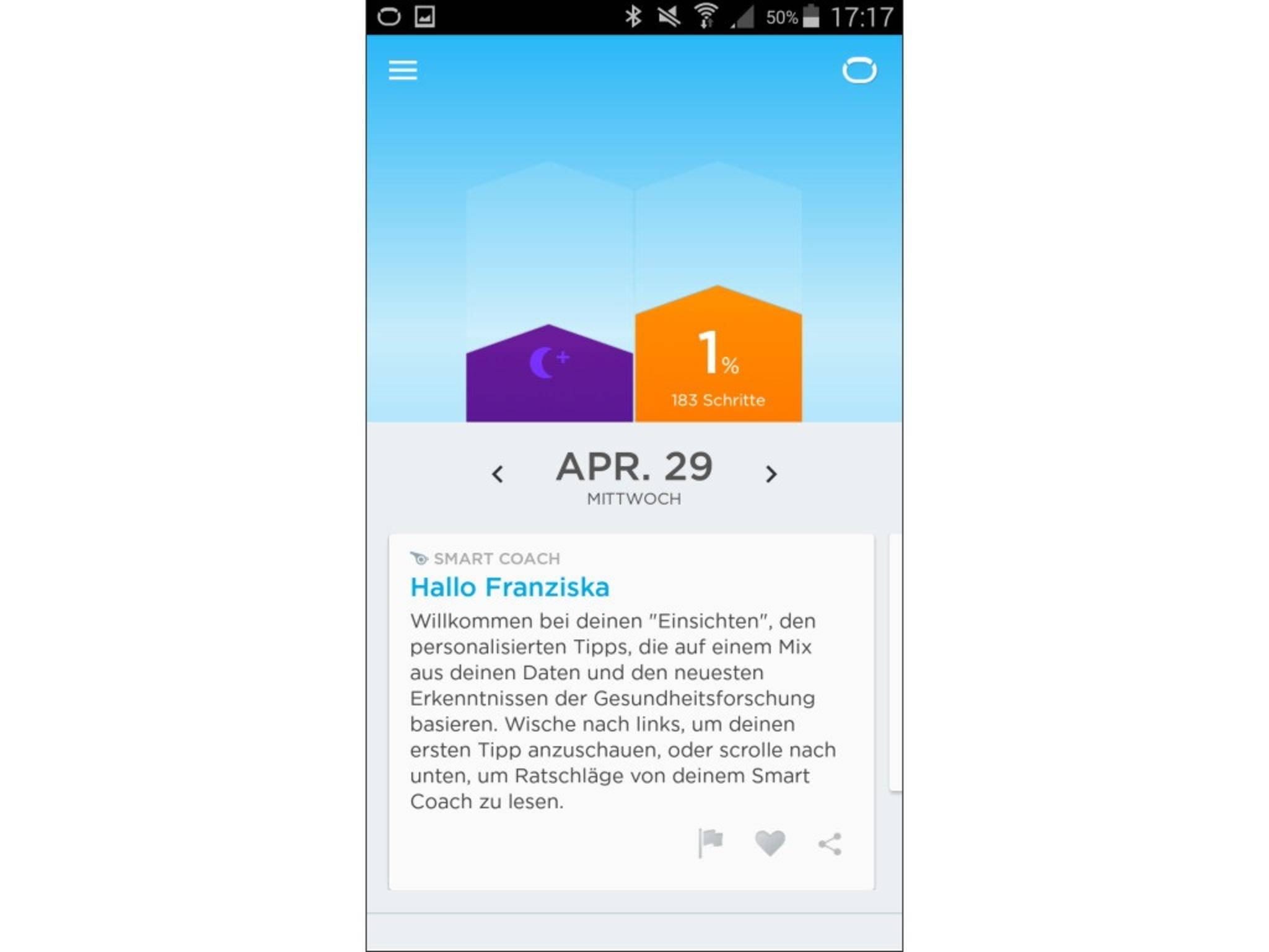 Jawbone Up 2 App Screenshot 5