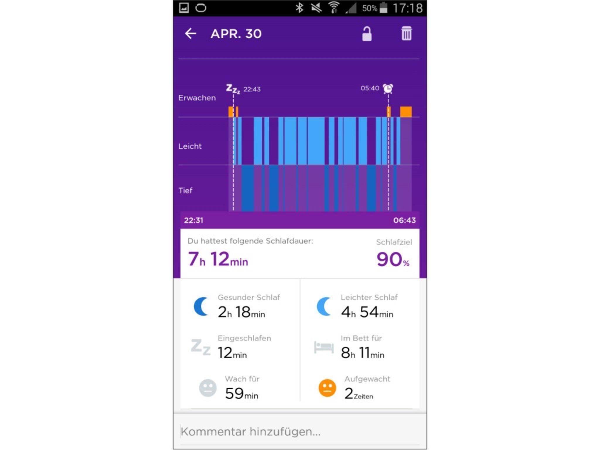 Jawbone Up 2 App Screenshot 8