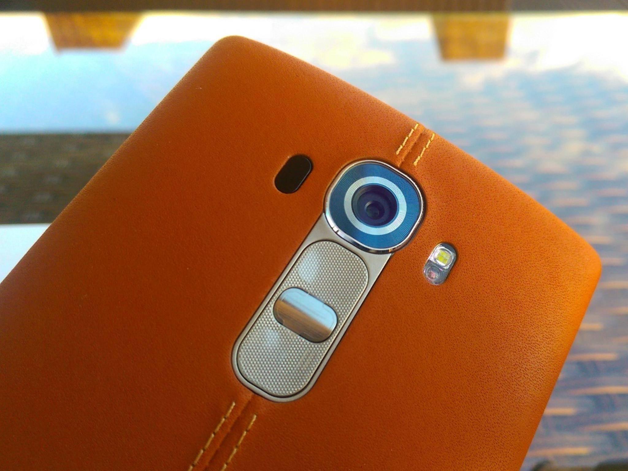 Mit der Lederrückseite ist das LG G4 ein echter Hingucker.