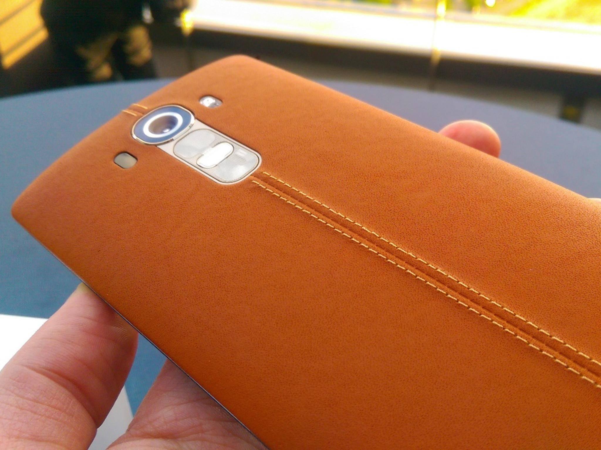 Dank der Lederrückseite ist das LG G4 ein echter Hingucker.