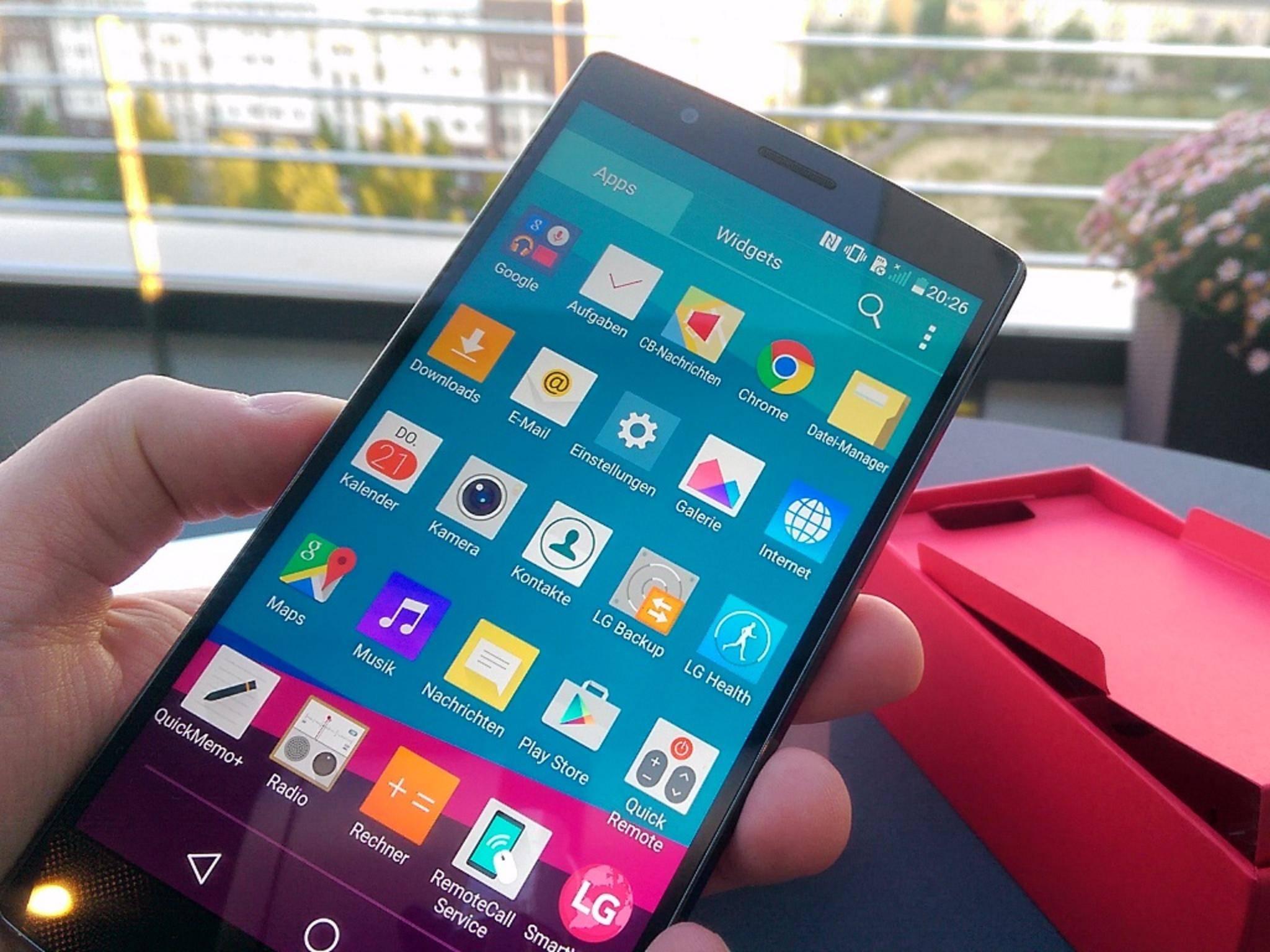 Beim ersten Einschalten: Das LG G4 läuft mit Android 5.1 Lollipop.