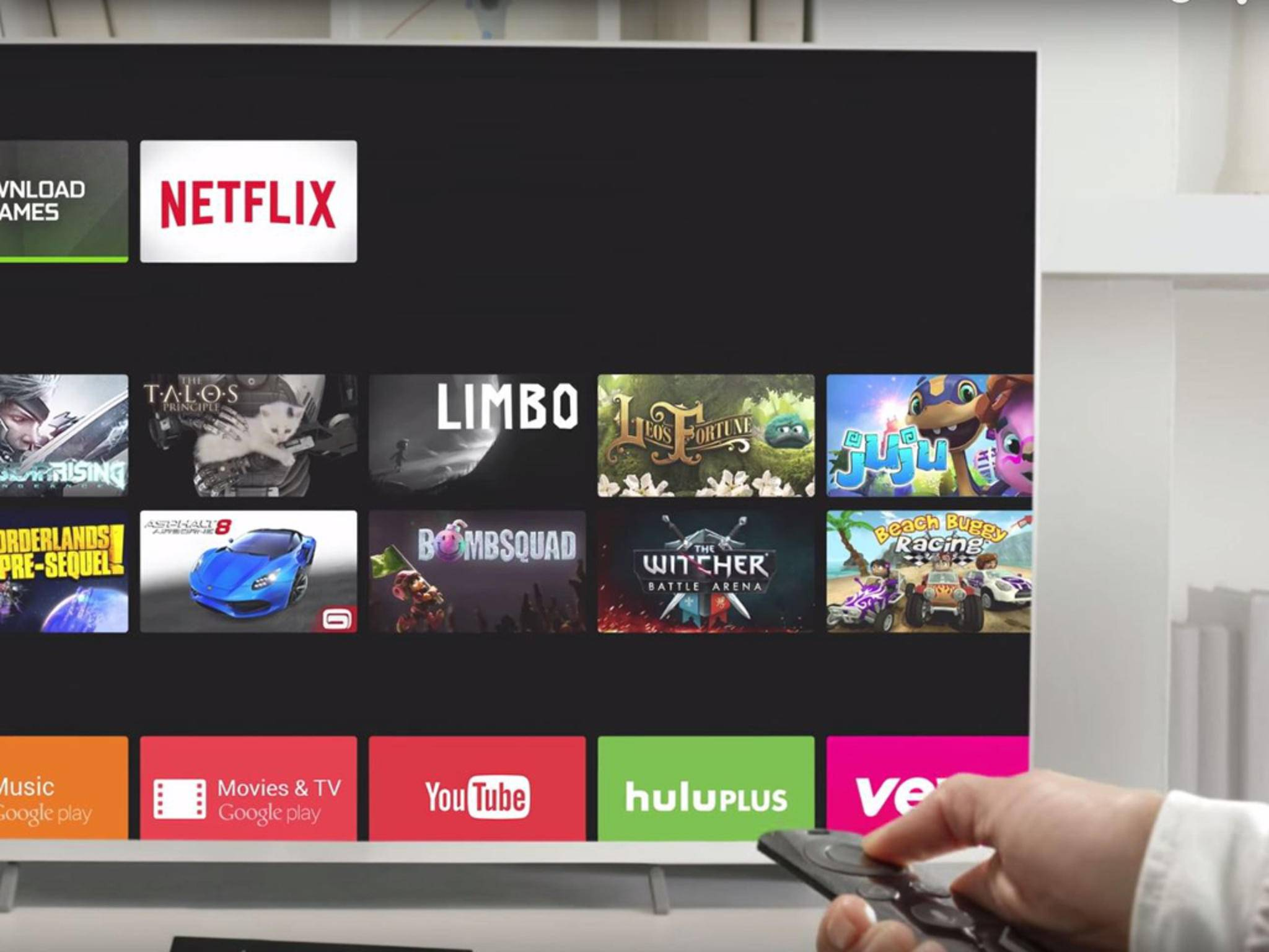 Android TV könnte den Chrome-Browser gut vertragen.
