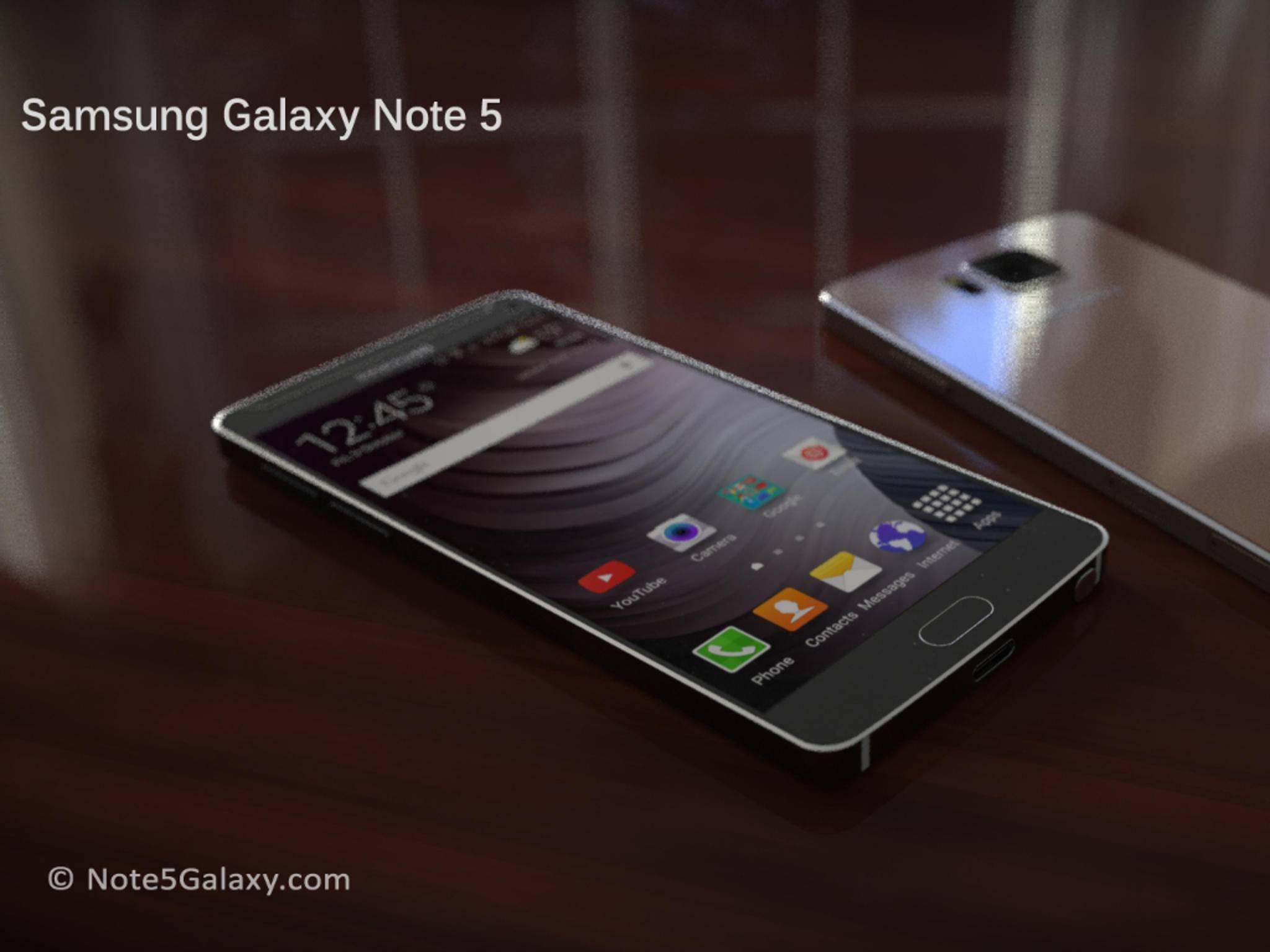 Eine Konzeptstudie des Galaxy Note 5: Wird das Gerät eine Super-Kamera bekommen?