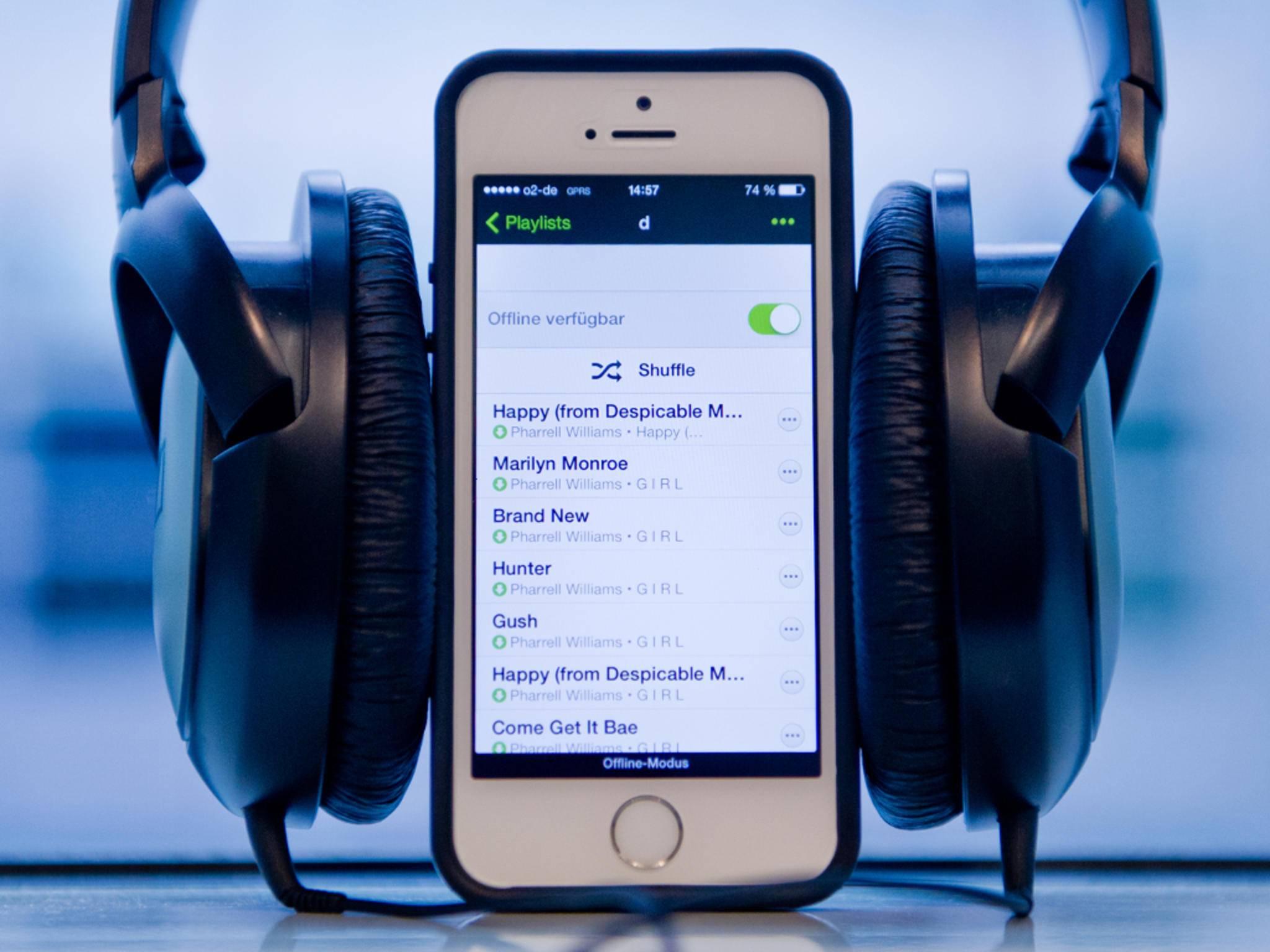 Mit Spotify gibt's was auf die Ohren.