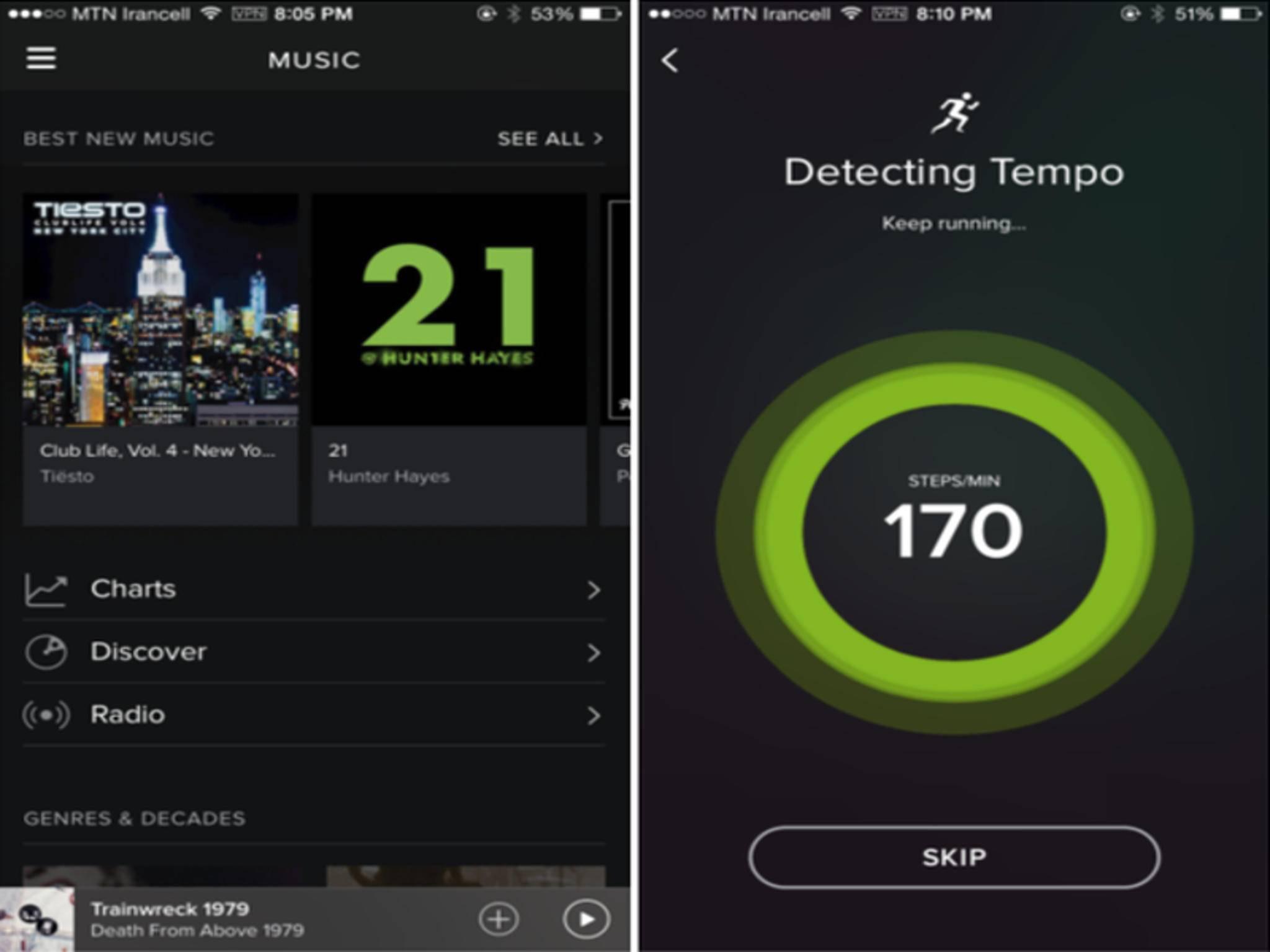 So sieht die neue iOS-App von Spotify aus.