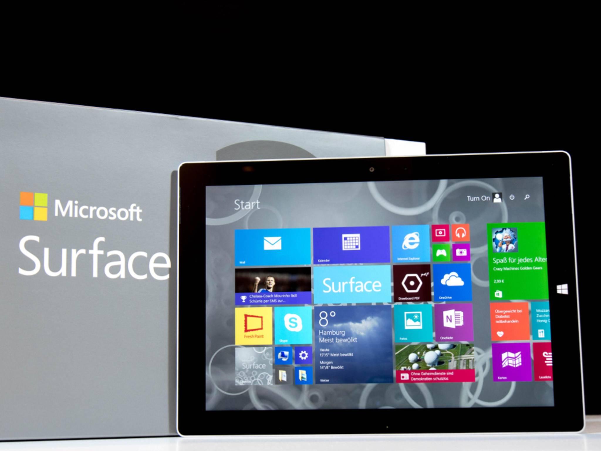Auf dem Surface 3 läuft kein abgespecktes Windows RT...