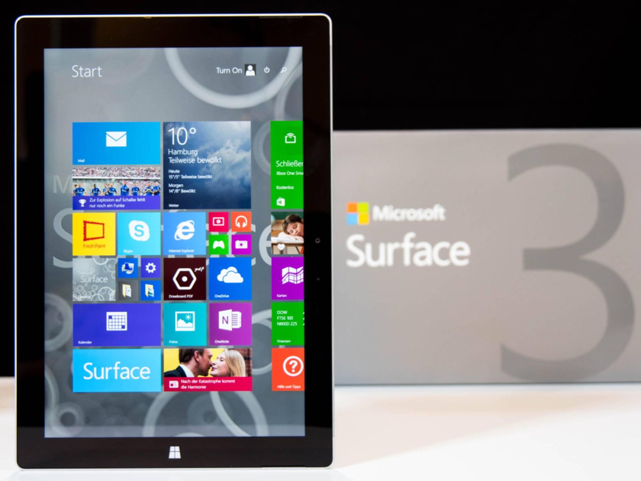 Ein Nachfolger des Surface 3 mit Windows 10 könnte bereits im Oktober erscheinen.