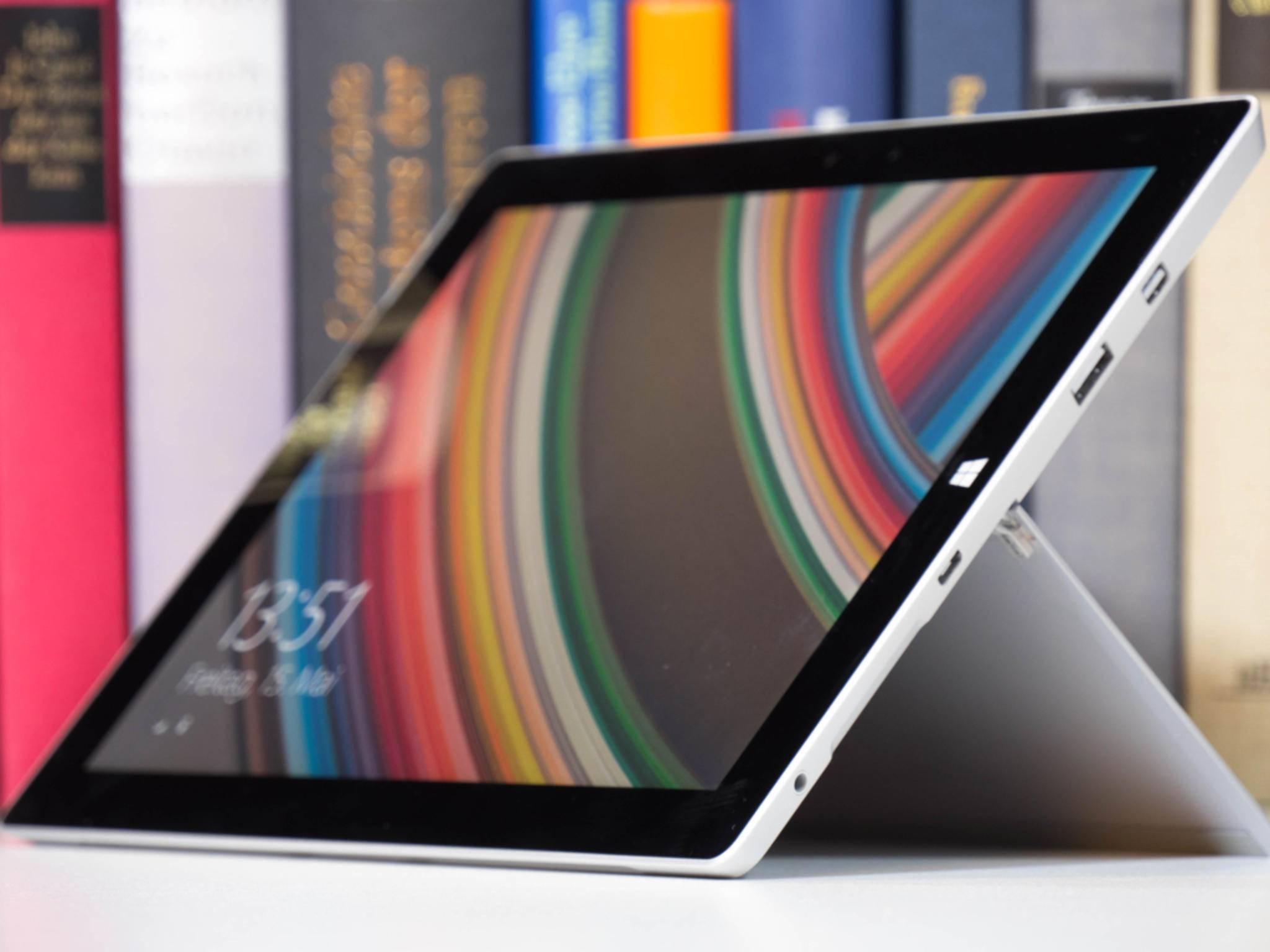Das Surface 3 hat viele Anschlussmöglichkeiten.