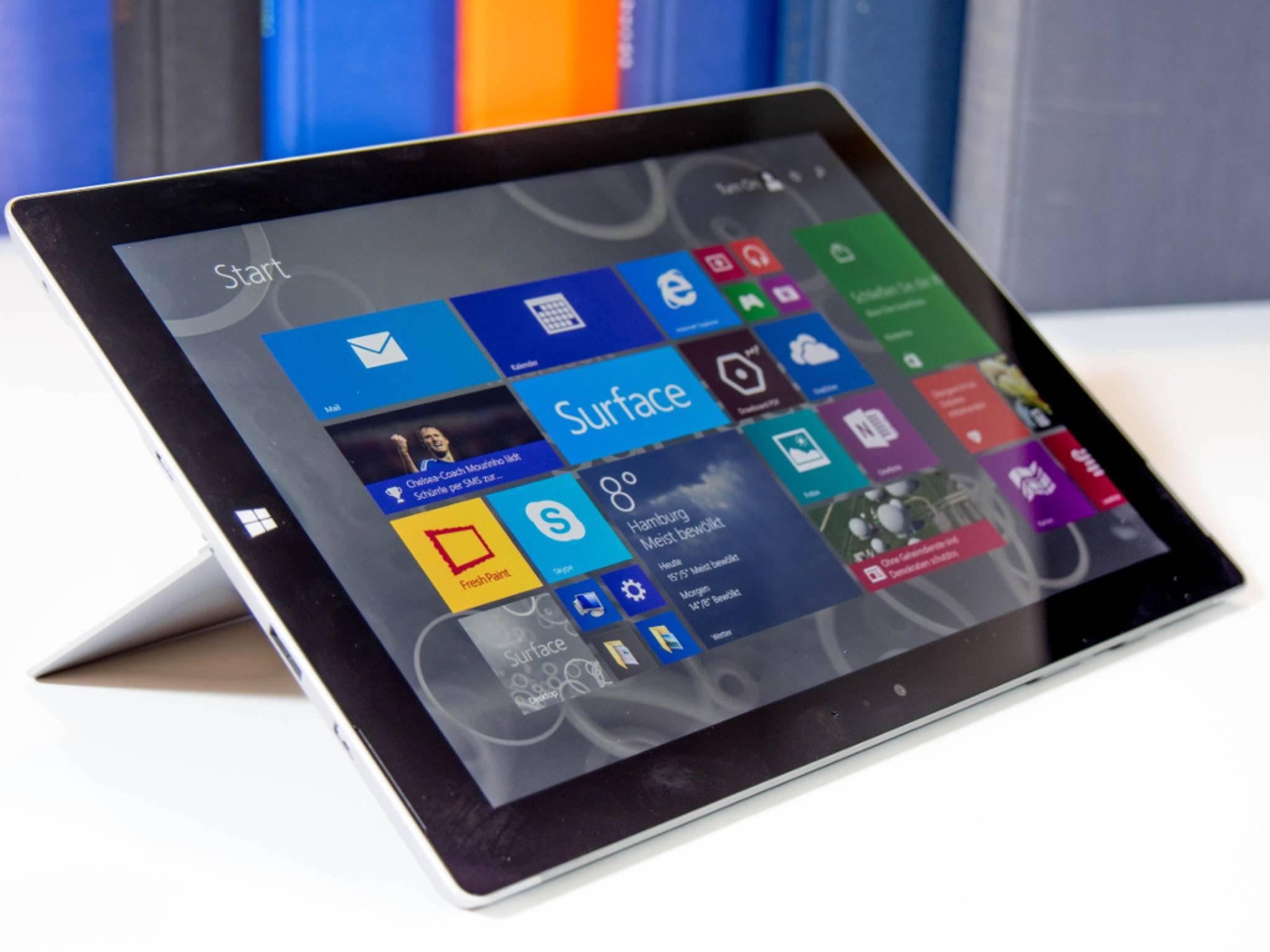 Das Surface 3 ist nur 8,7 Millimeter dick.