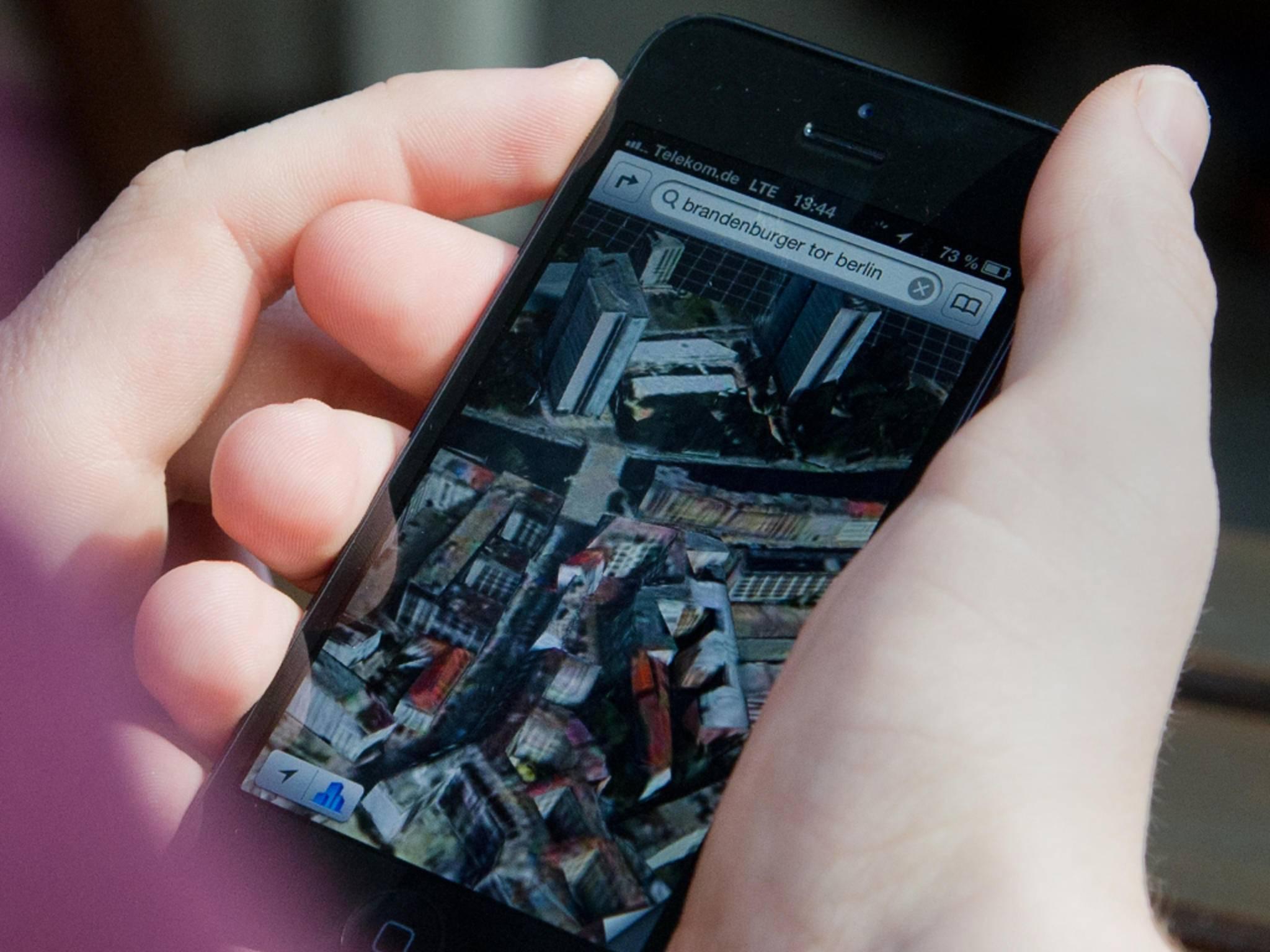 iPhone mit Karte