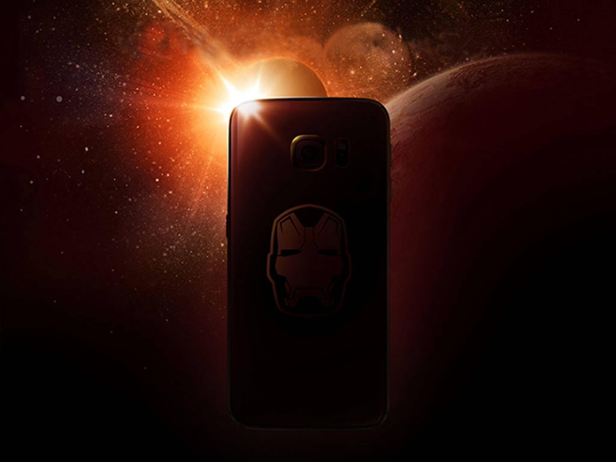 """Jetzt ist es raus: So sieht die """"Iron Man""""-Edition des Galaxy S6 Edge aus."""