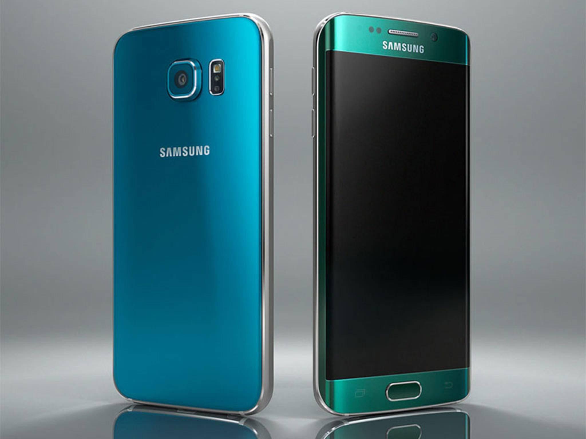 Die neuen farbigen Varianten des Galaxy S6 von Samsung.