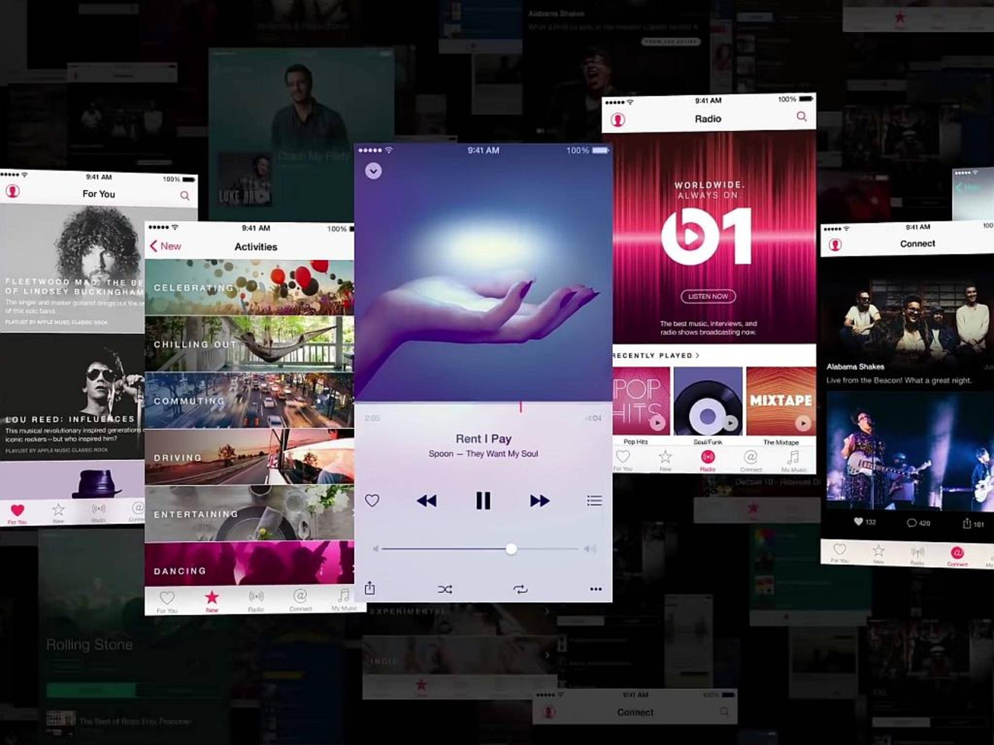 Apple Music tritt gegen Konkurrenten wie Spotify oder Deezer an.