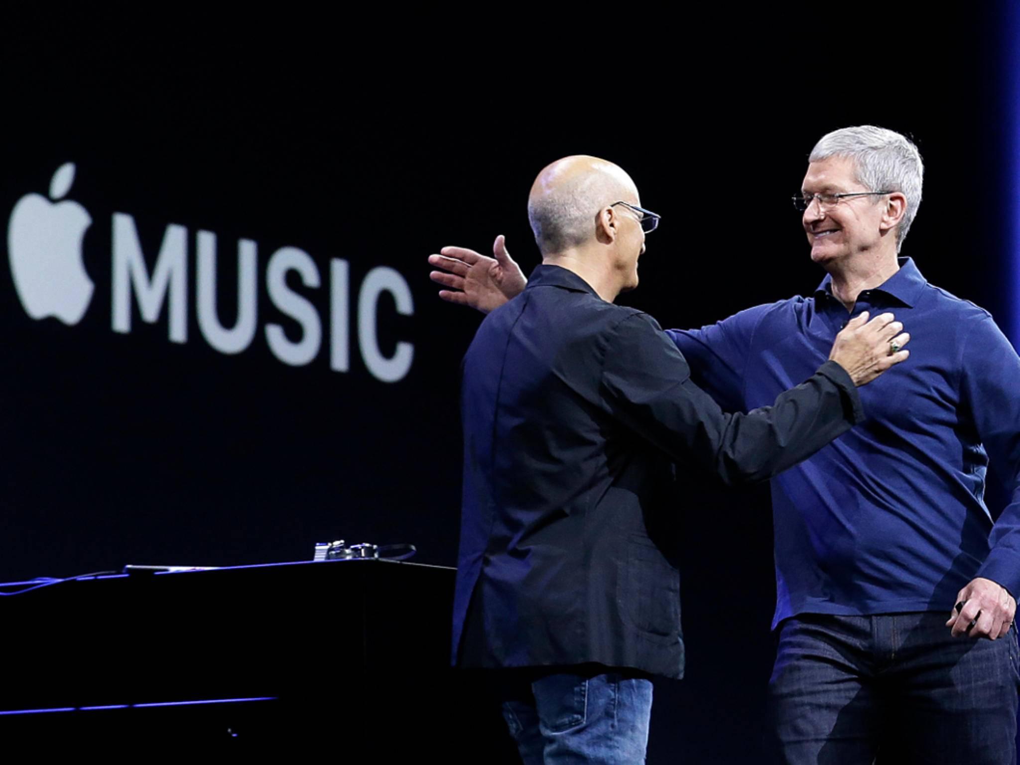 Tim Cook sieht Apple Music auf einem guten Weg.
