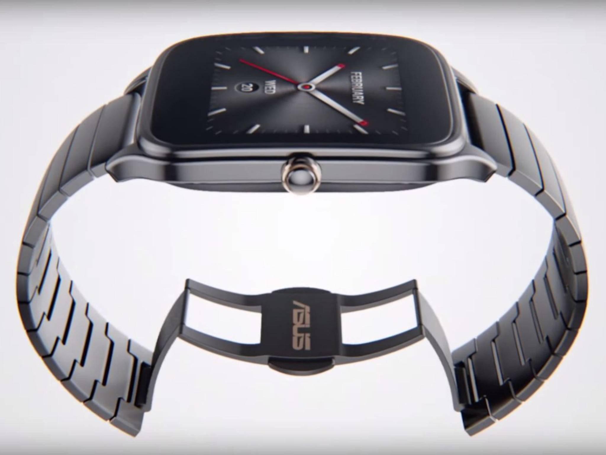 Die ZenWatch 2 orientiert sich anscheinend an Apples Smartwatch.