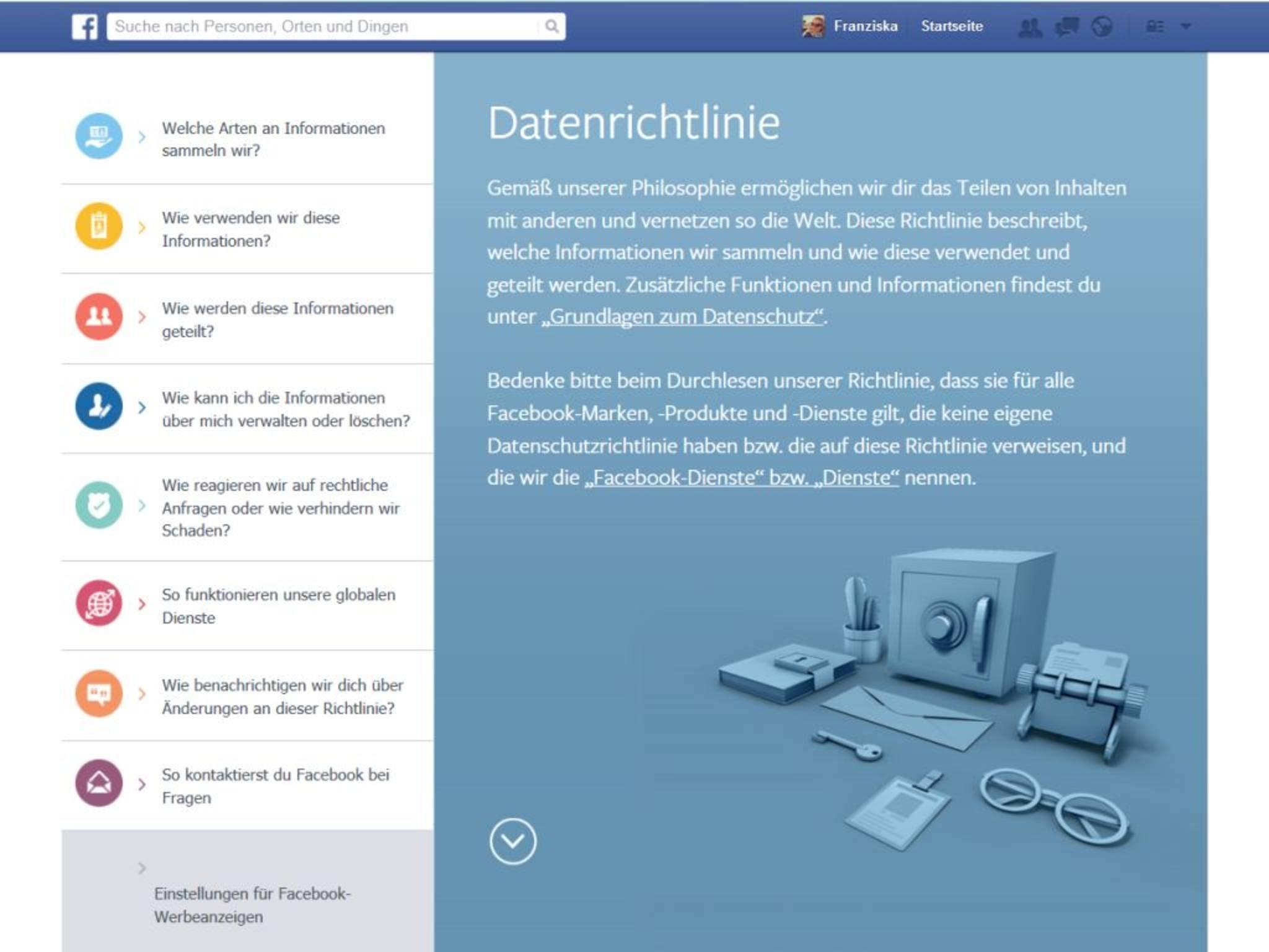 Einstellungen für Facebook-Werbeanzeigen