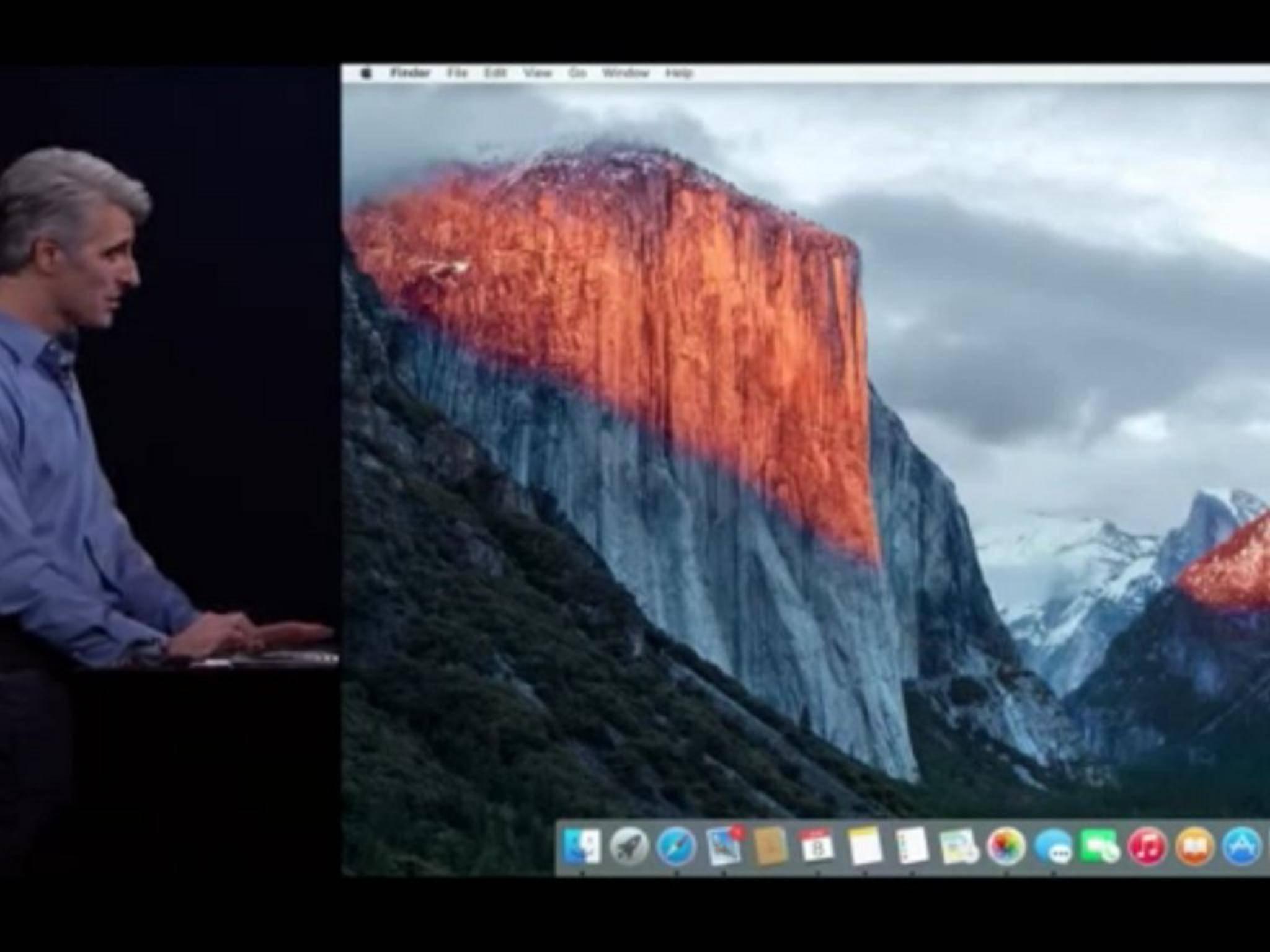Mac OS X 10.11 trägt den Namen El Captain.