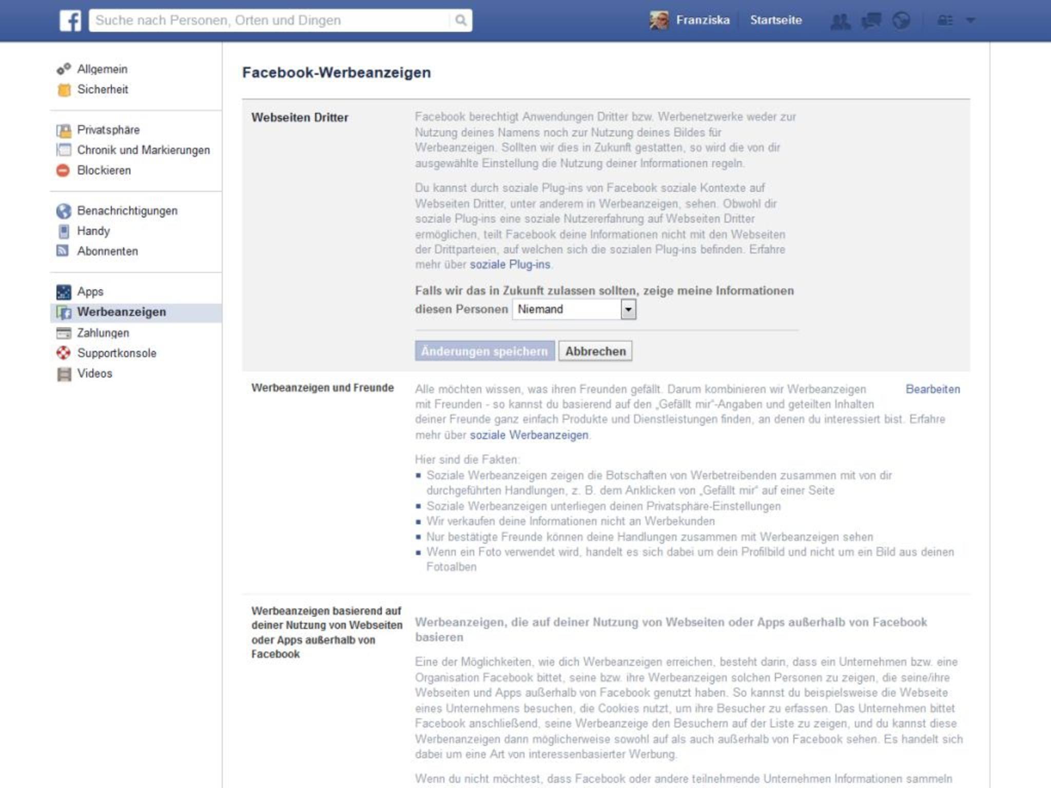 Facebook-Werbeanzeigen