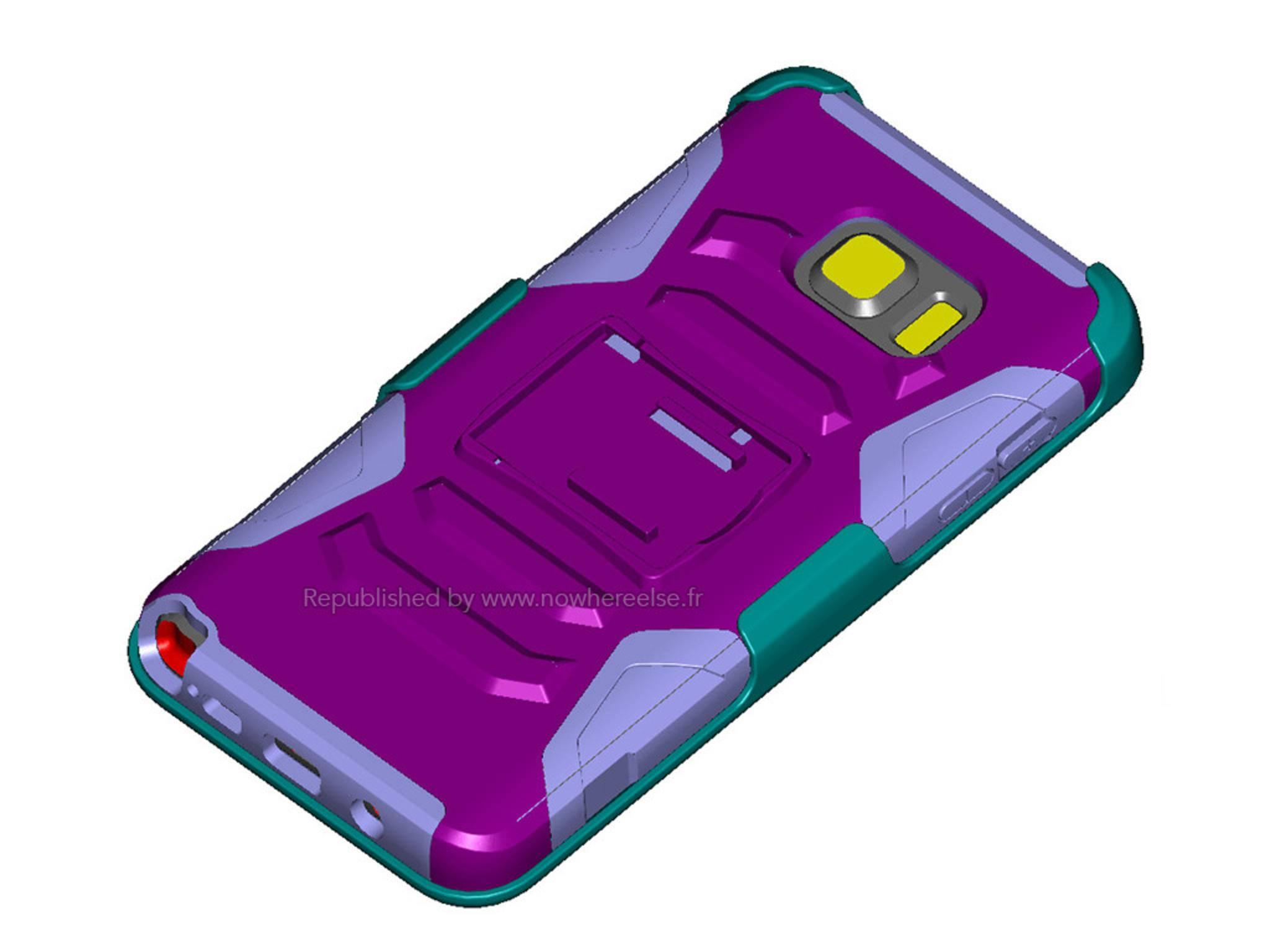 Ein angebliches Case für das Galaxy Note 5 gibt erste Hinweise auf das Design.