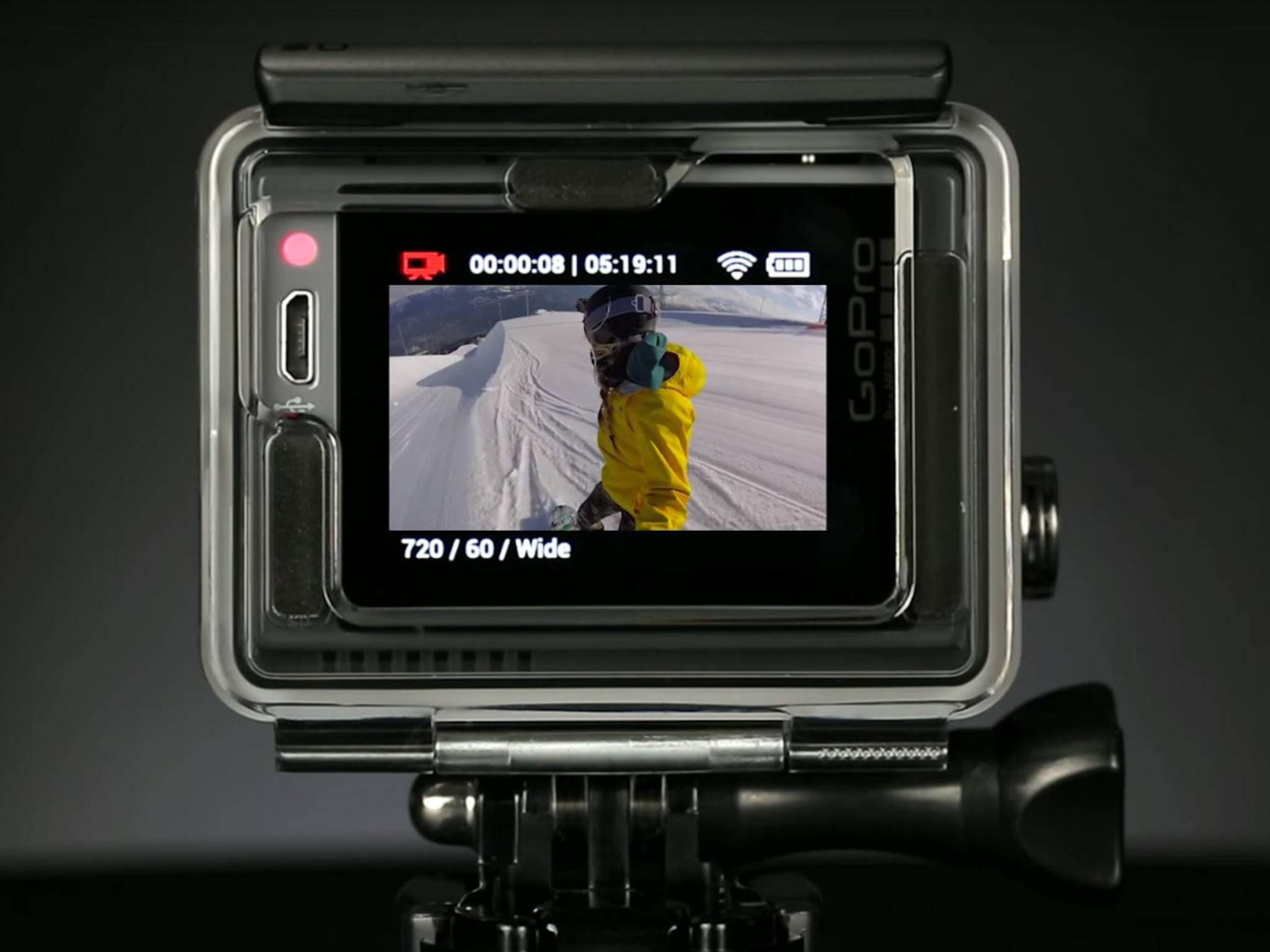 Die GoPro Hero+ LCD besitzt serienmäßig ein Touch-Display.